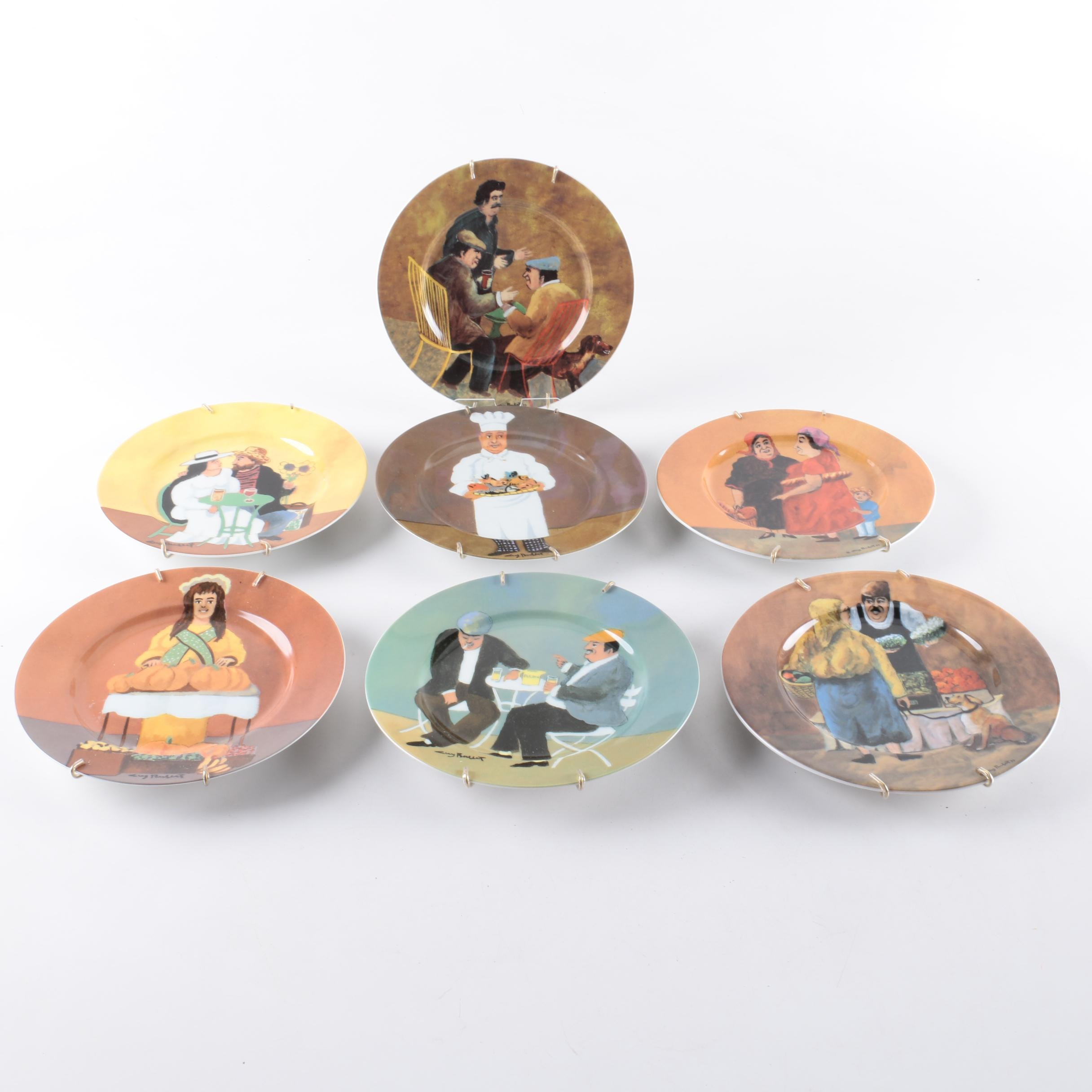 Guy Buffet Collectible Porcelain Plate Collection