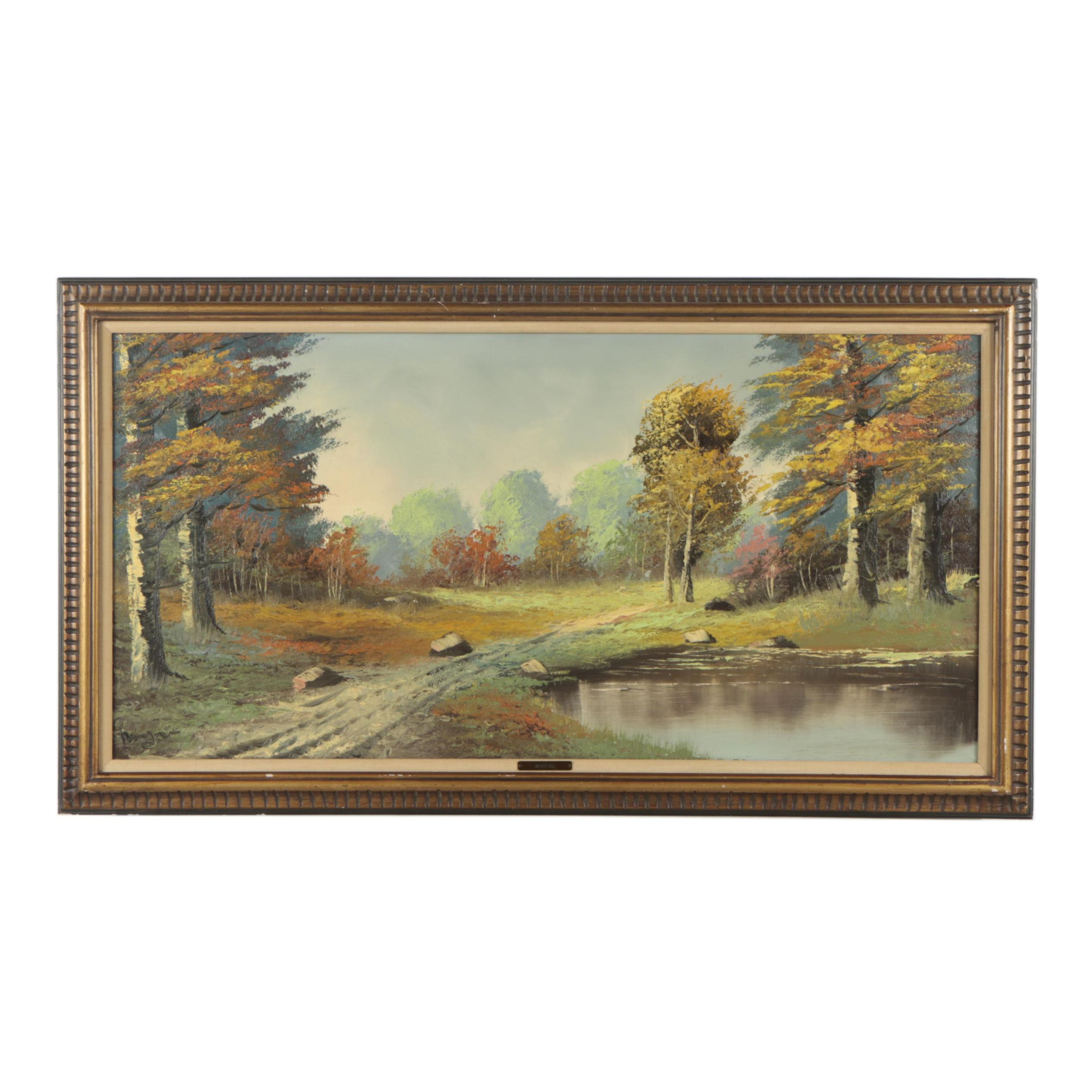 Nooyer Oil on Canvas Landscape Painting