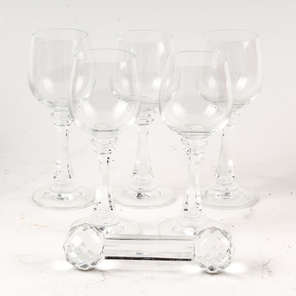 Cordial Glasses and Knife Rest