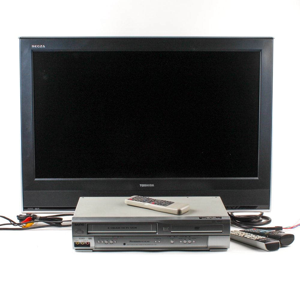 """Toshiba 32"""" HDTV with Sanyo DVD Player/VCR"""