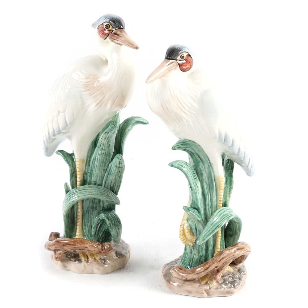 Fitz and Floyd Marsh Egrets Figurines