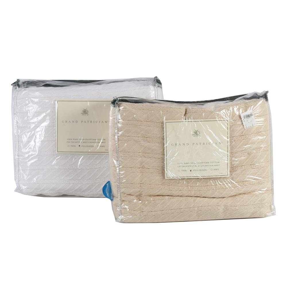 Grand Patrician Egyptian Cotton Queen Blankets