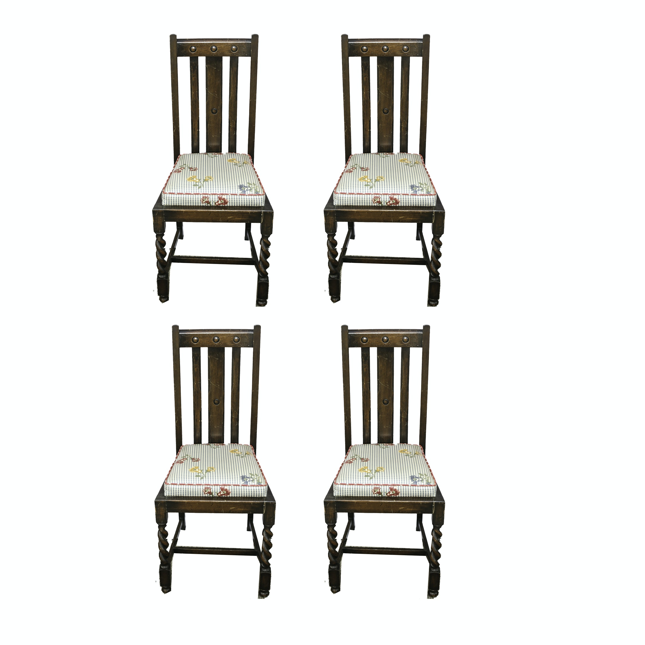 Set of English Arts and Crafts Style Dining Chairs