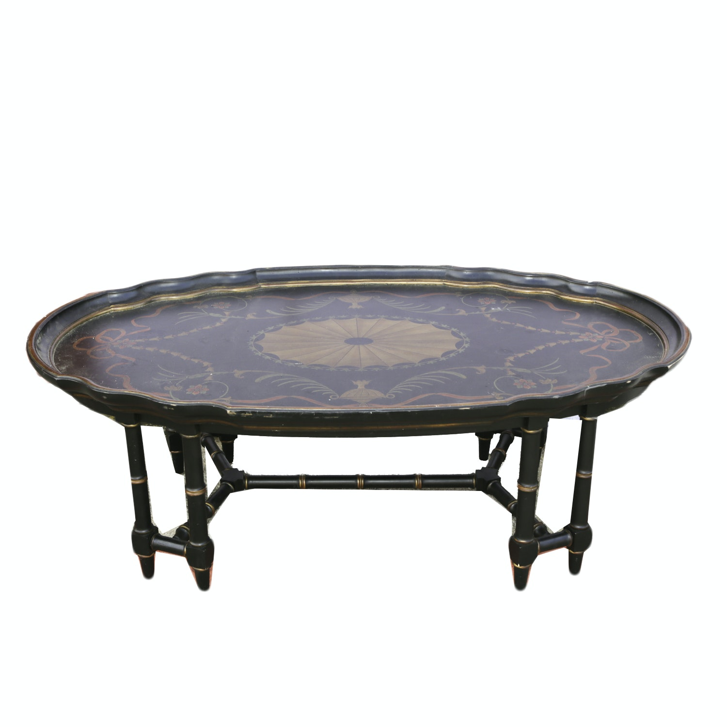 Decorative Painted Tray Coffee Table