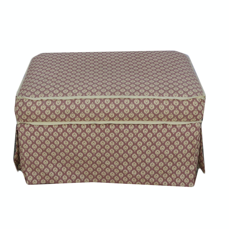 Print Upholstered Ottoman