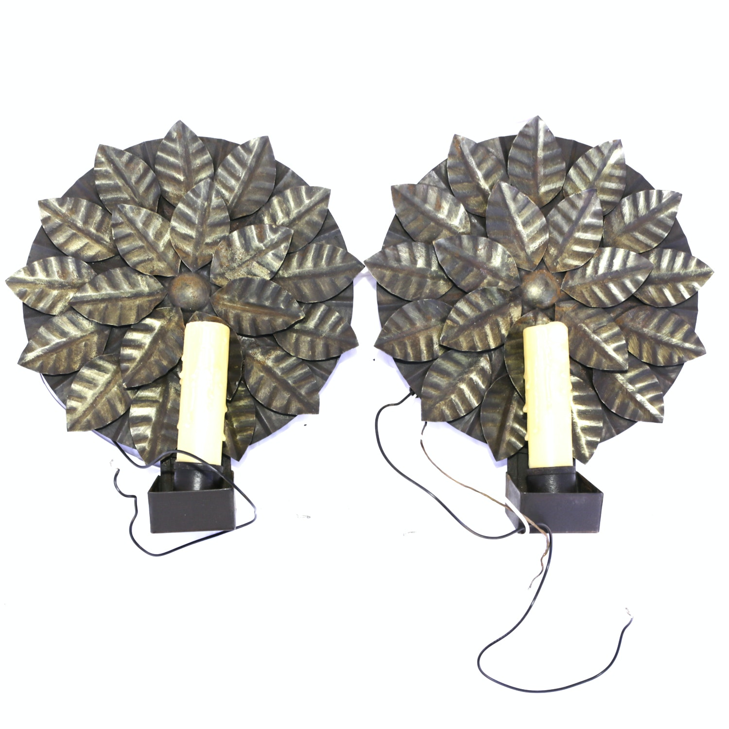 Pair of Wall Sconce Light Fixtures