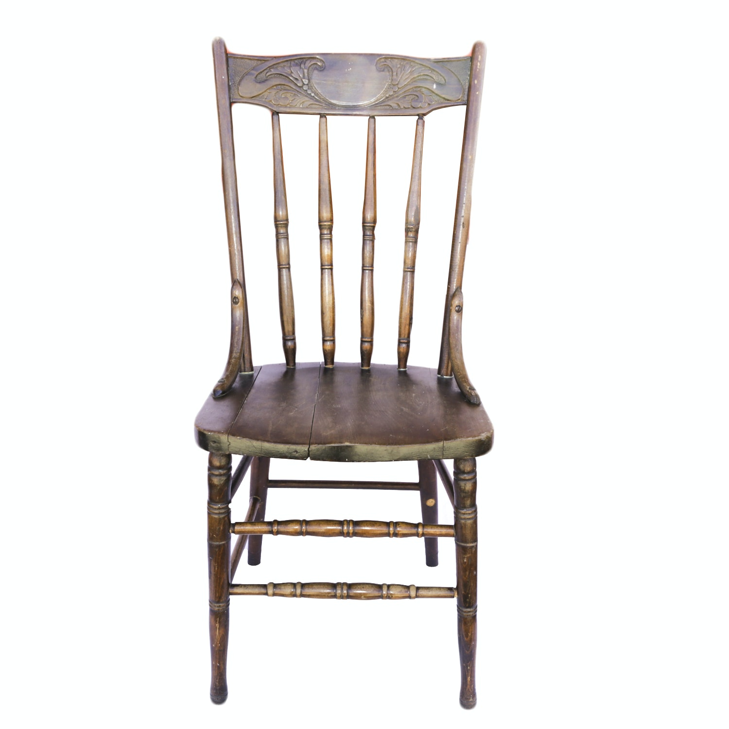 Antique Pressed Oak Side Chair