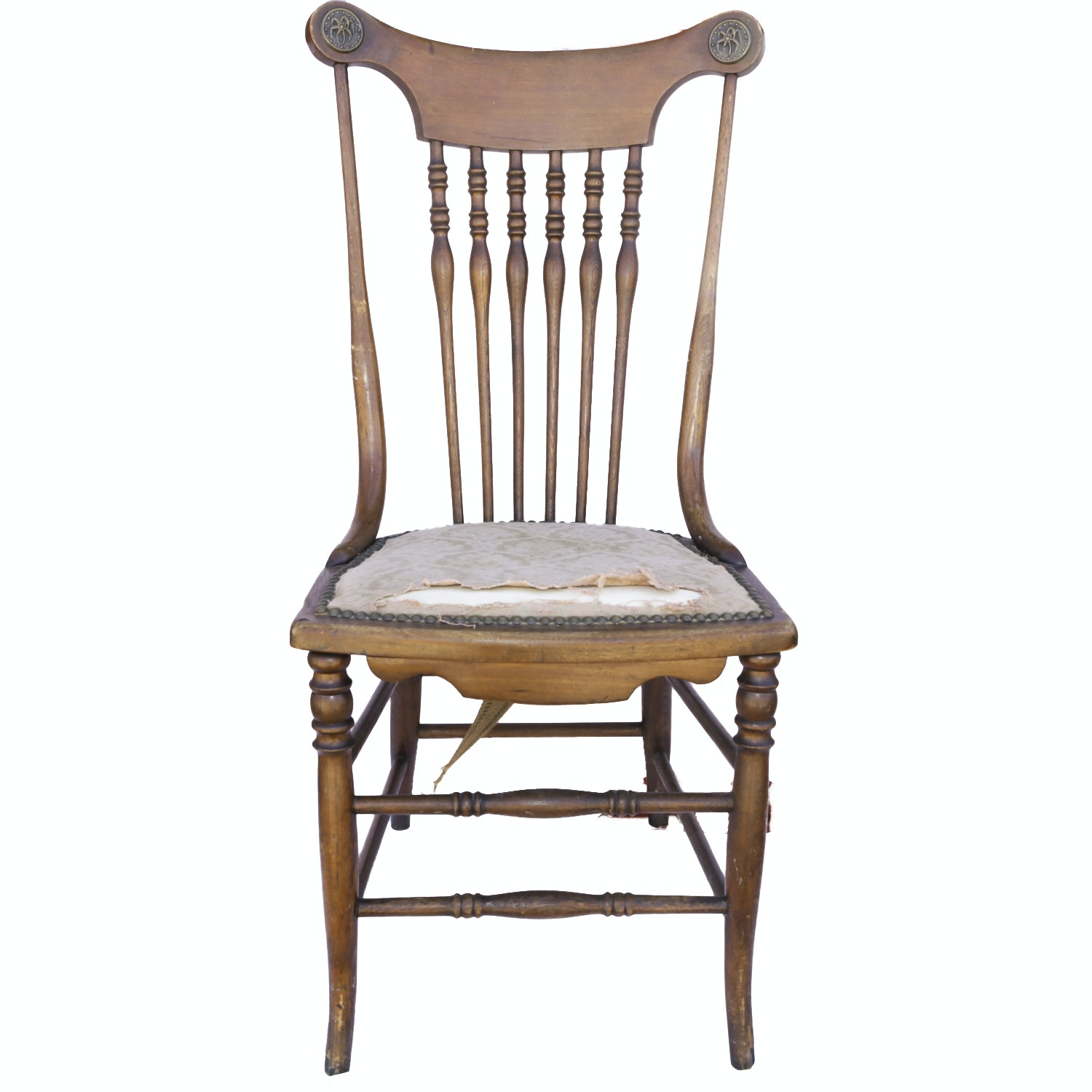 Antique Colonial-Revival Walnut Chair