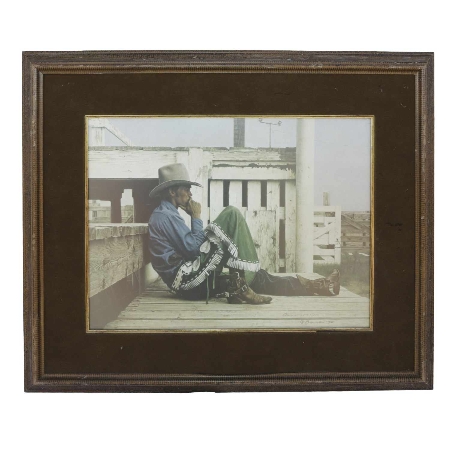 """James Bama Limited Edition Reproduction Print """"Rookie Bronc Rider"""""""