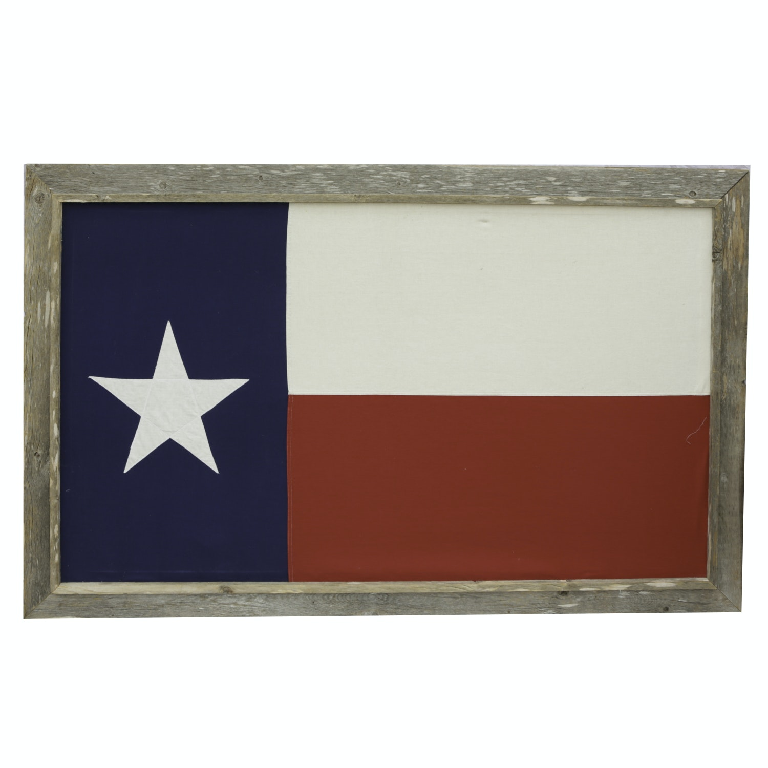 Rustic Wood Framed Texas State Flag