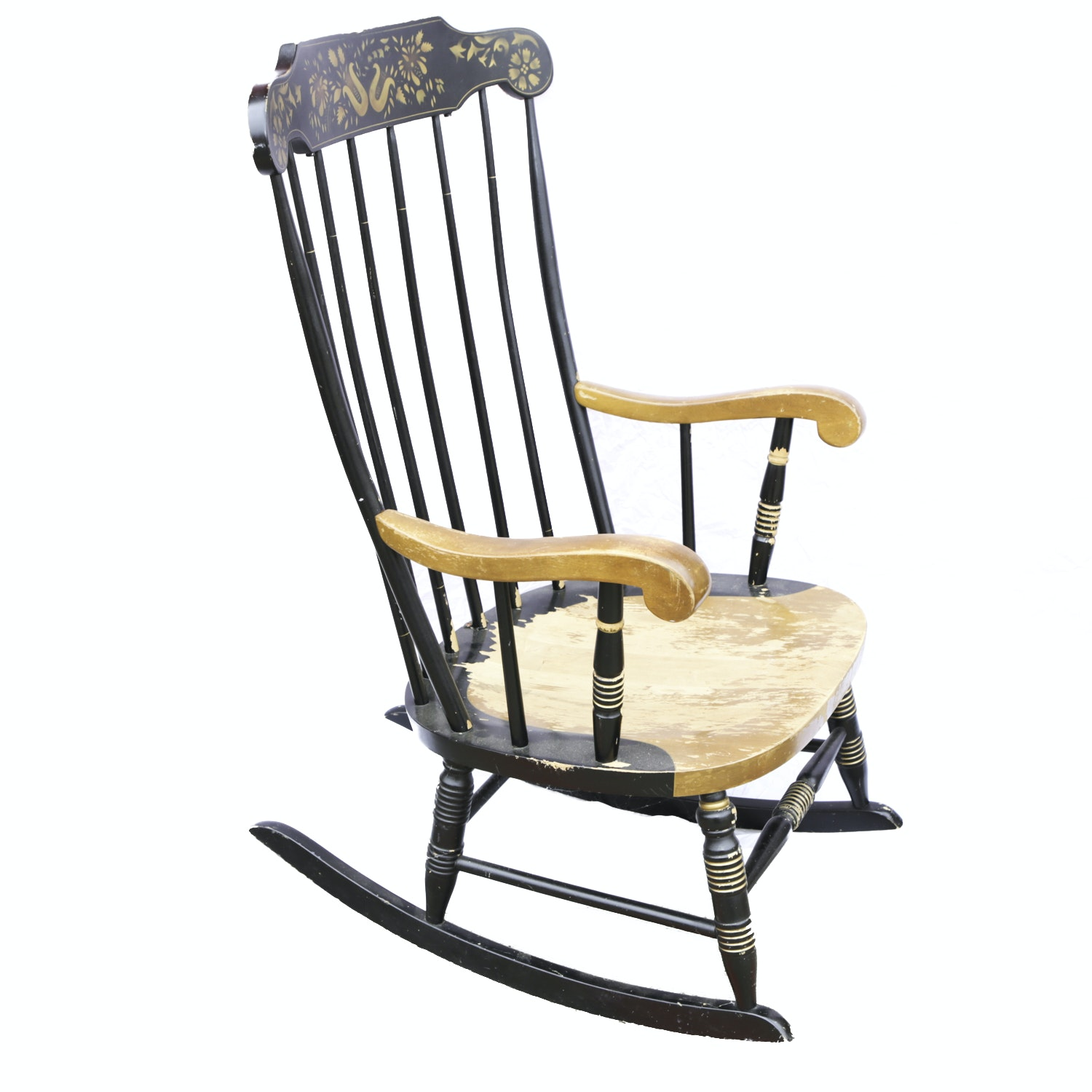 Hitchcock Style Stenciled Rocking Chair