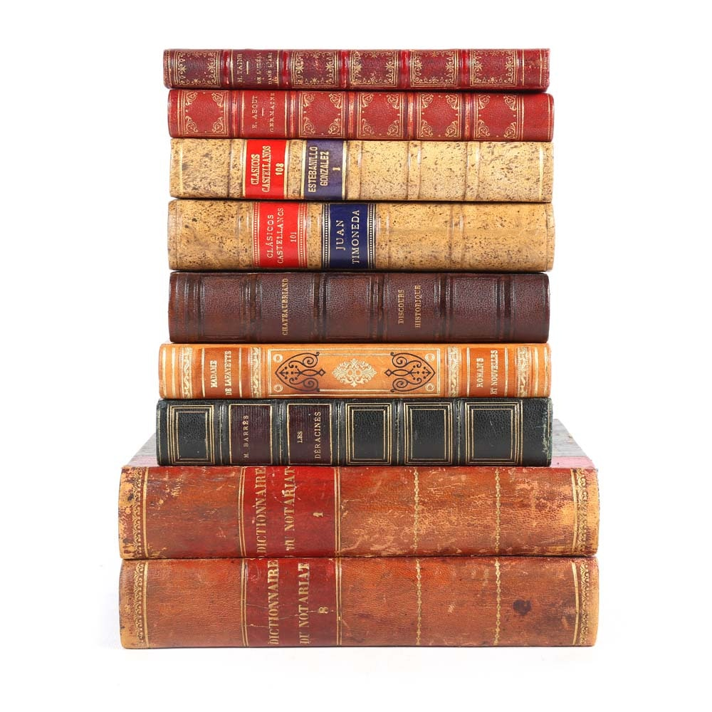 Vintage and Antique French and Spanish Language Books