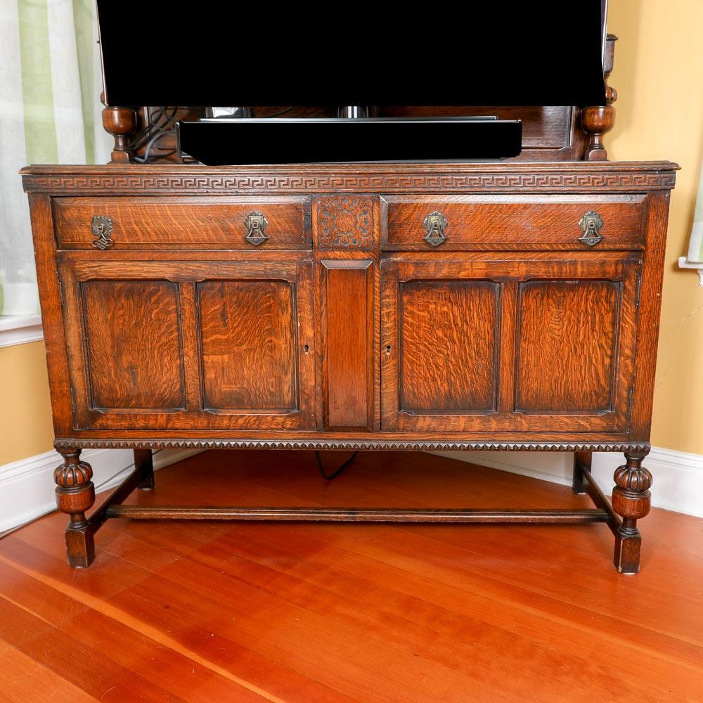 Antique Jacobean Oak Sideboard