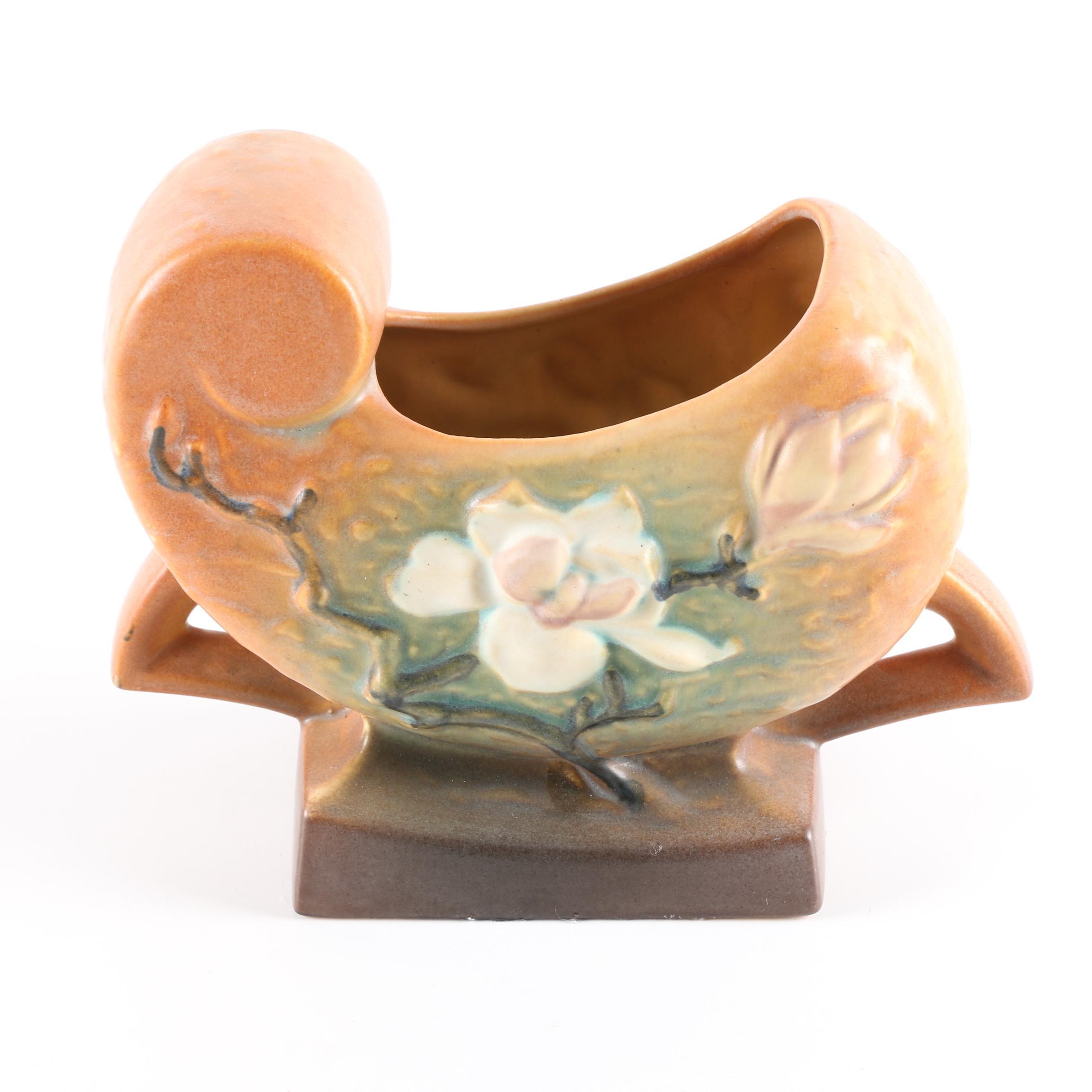 """Roseville Pottery """"Magnolia"""" Pillow Vase"""