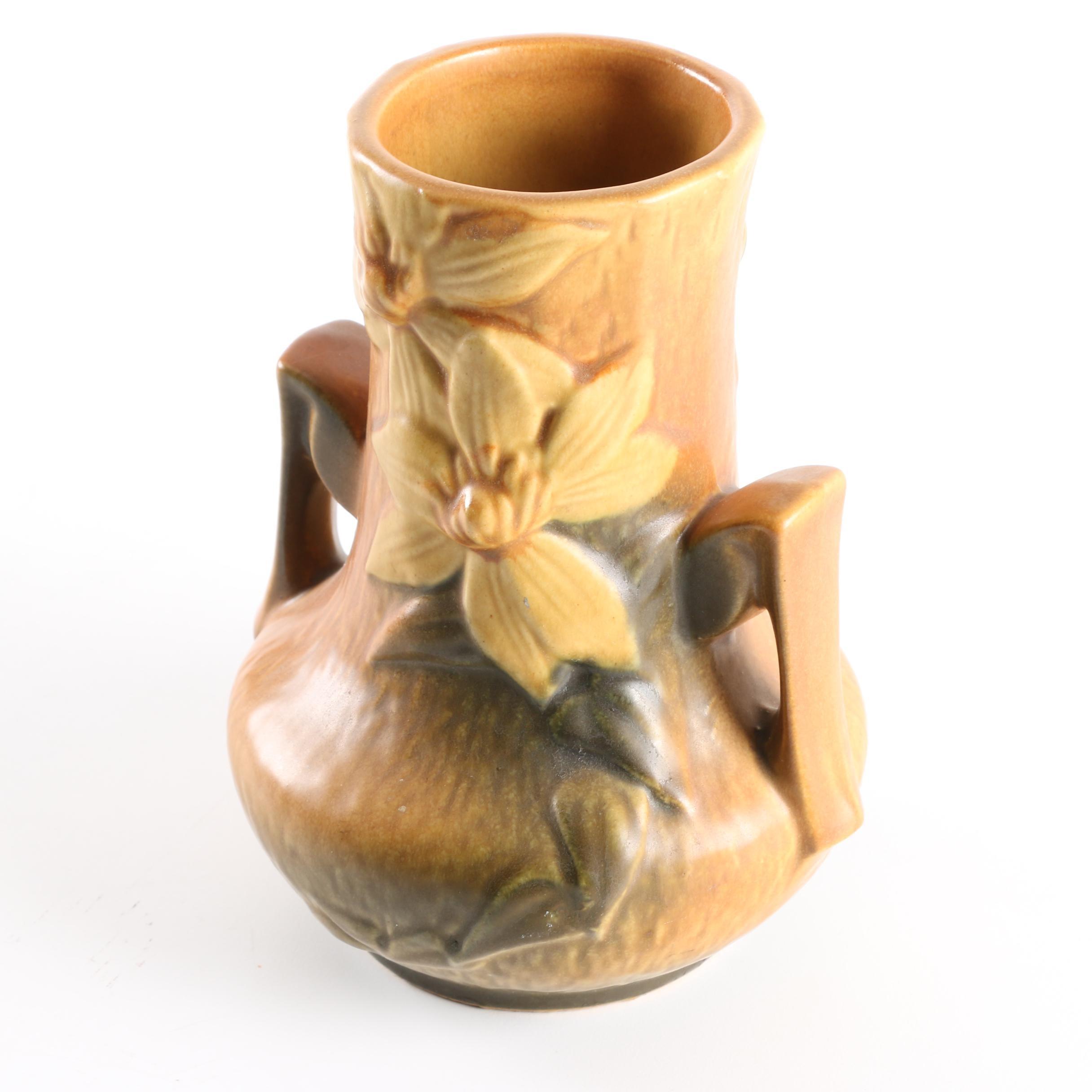 "Roseville Pottery ""Clemantis"" Vase"