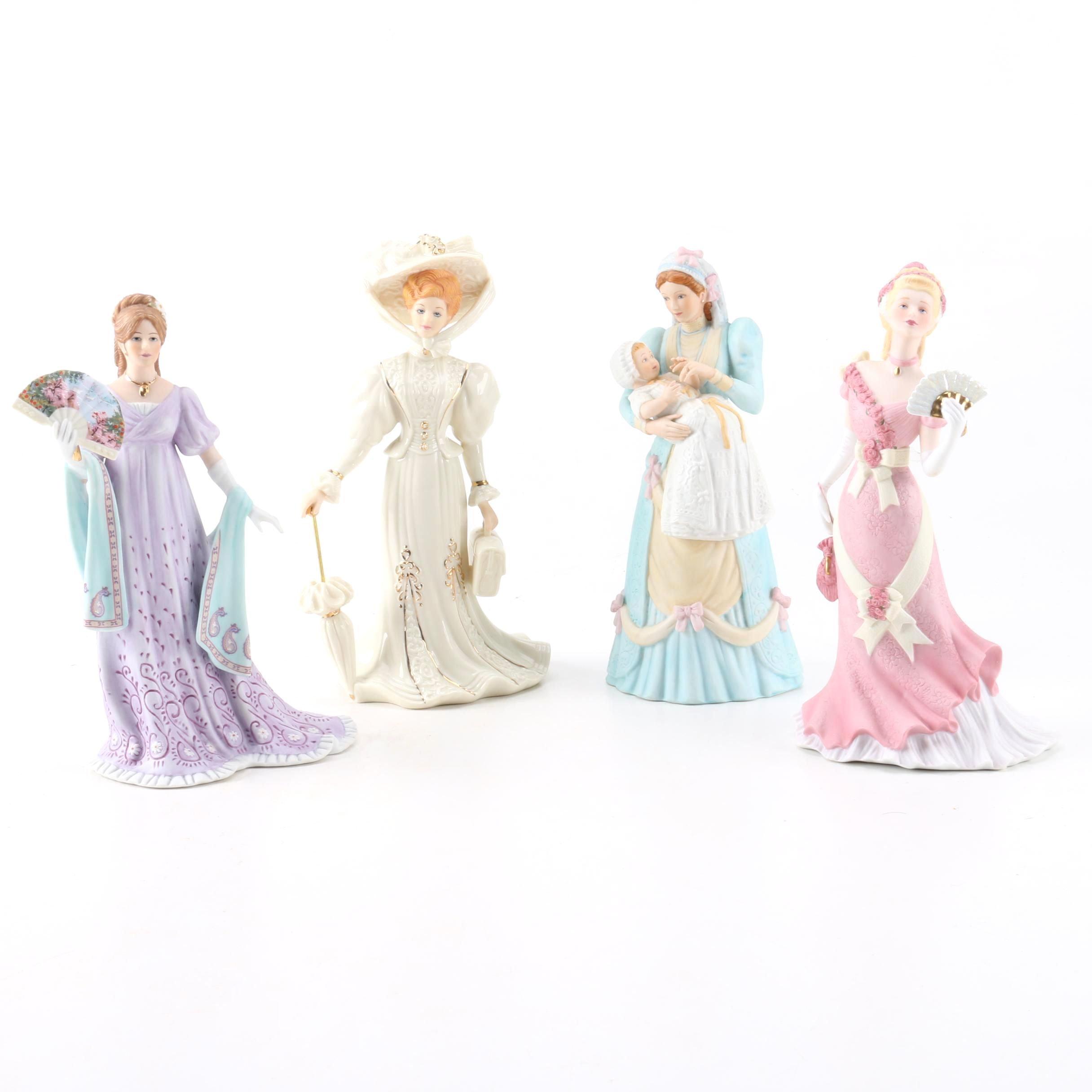 Vintage Lenox Hand-Painted Porcelain Figurines