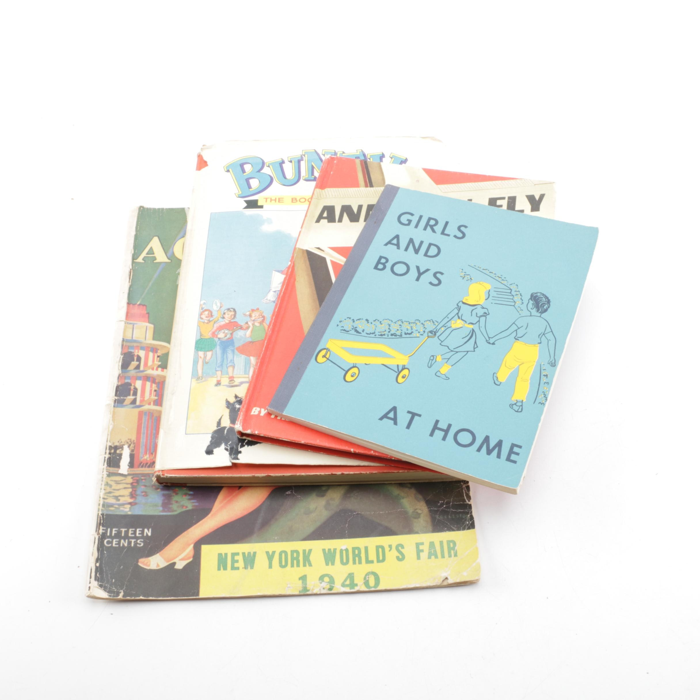 Mid-20th Century Children's Books and 1940 New York World's Fair Pamphlet