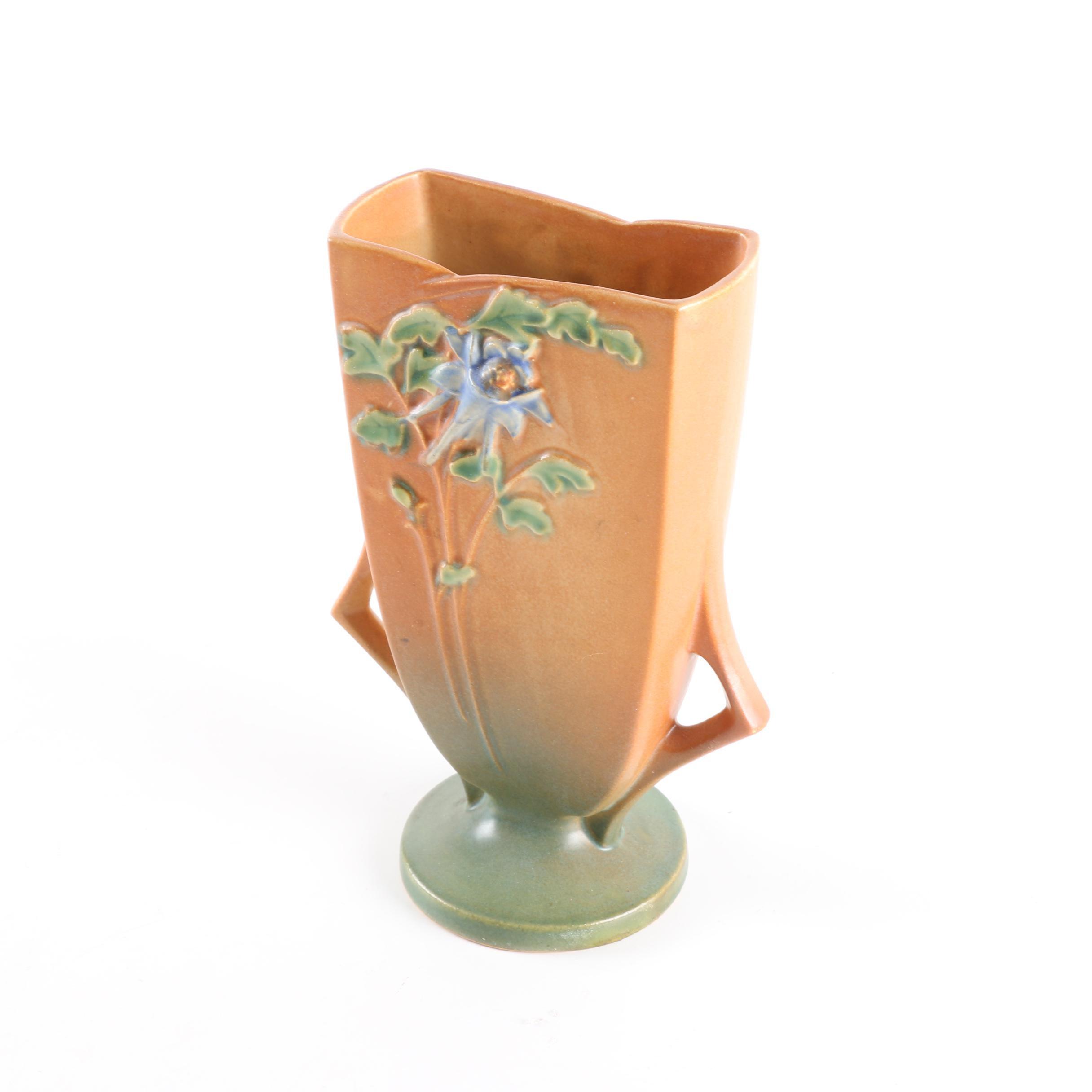 """Roseville Pottery """"Columbine"""" Vase"""