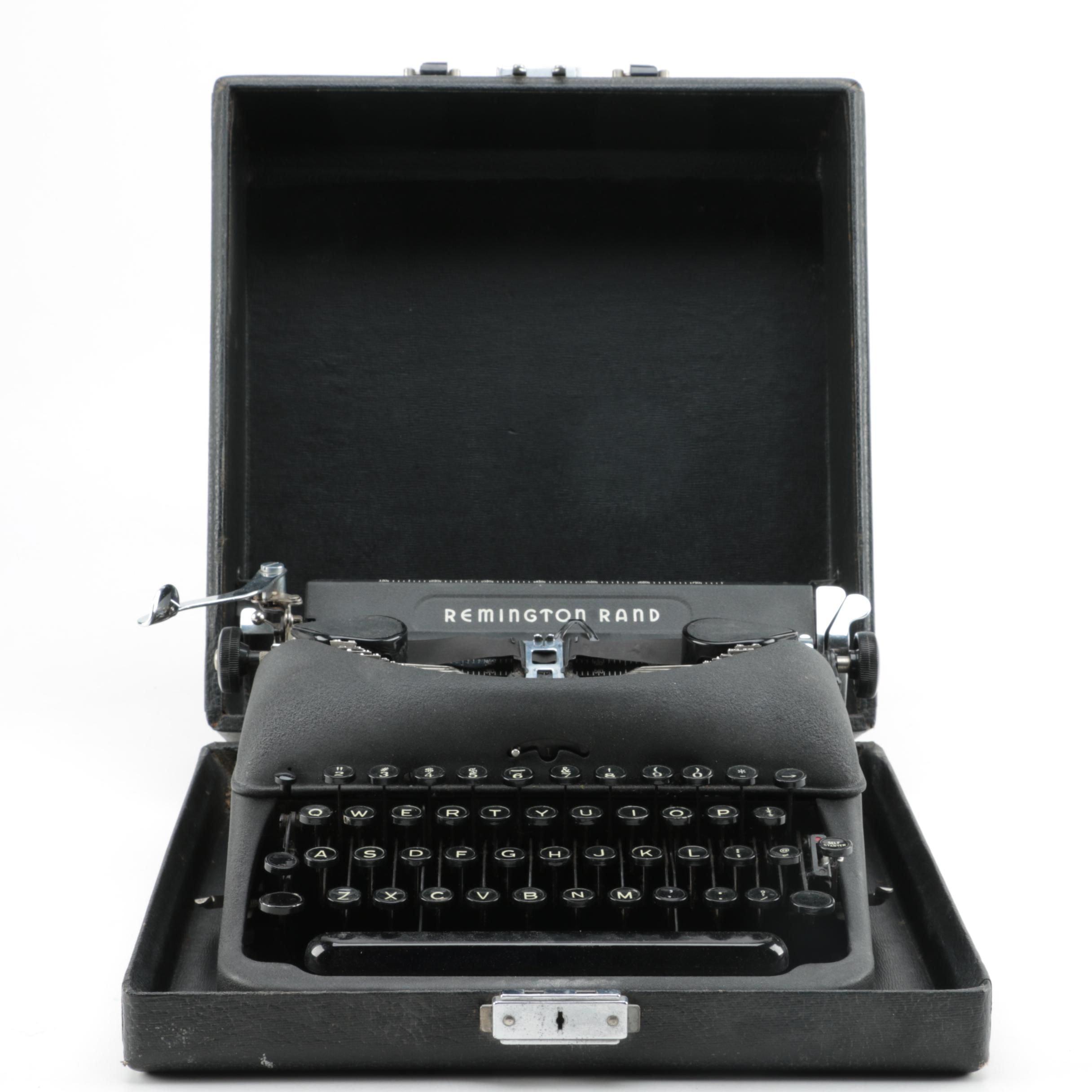 Vintage Remington Rand Portable Typewriter
