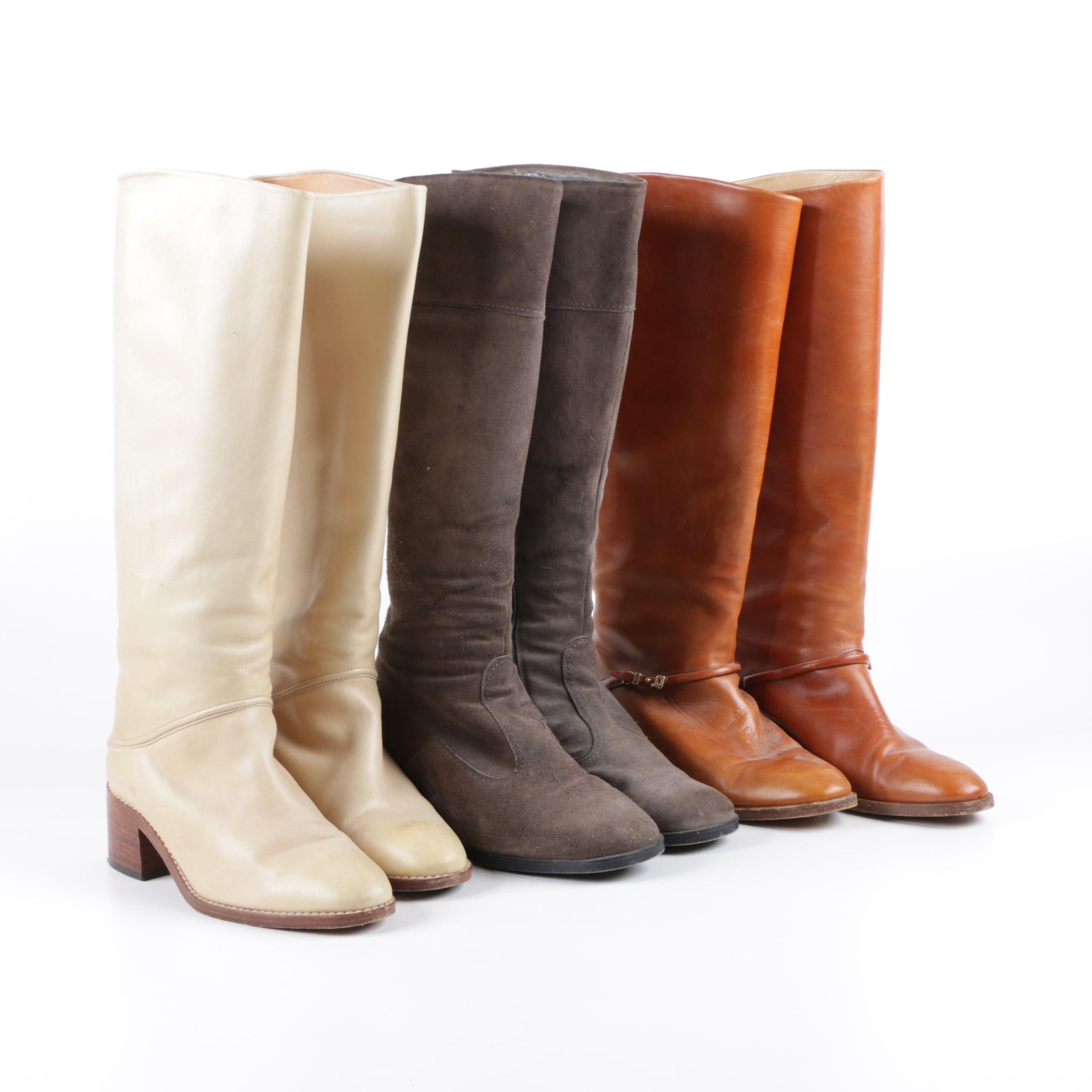 Women's Leather and Suede Riding Boots Including Gabor