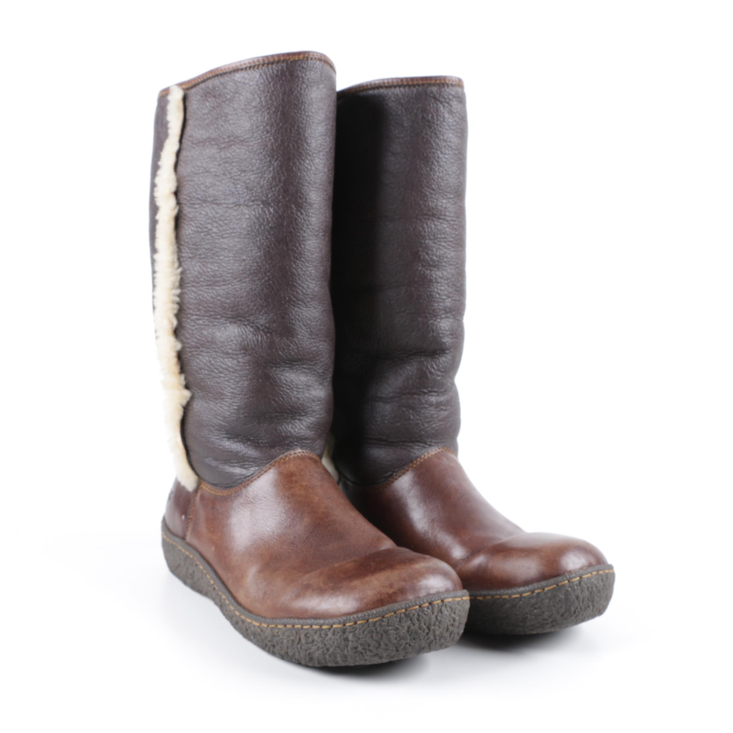 Women's Born Shearling Lined Leather Boots