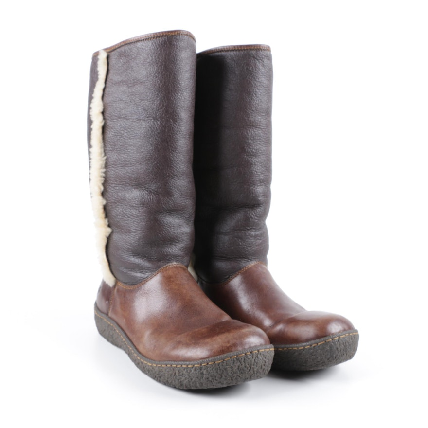 b89389fd089 Women s Born Shearling Lined Leather Boots   EBTH