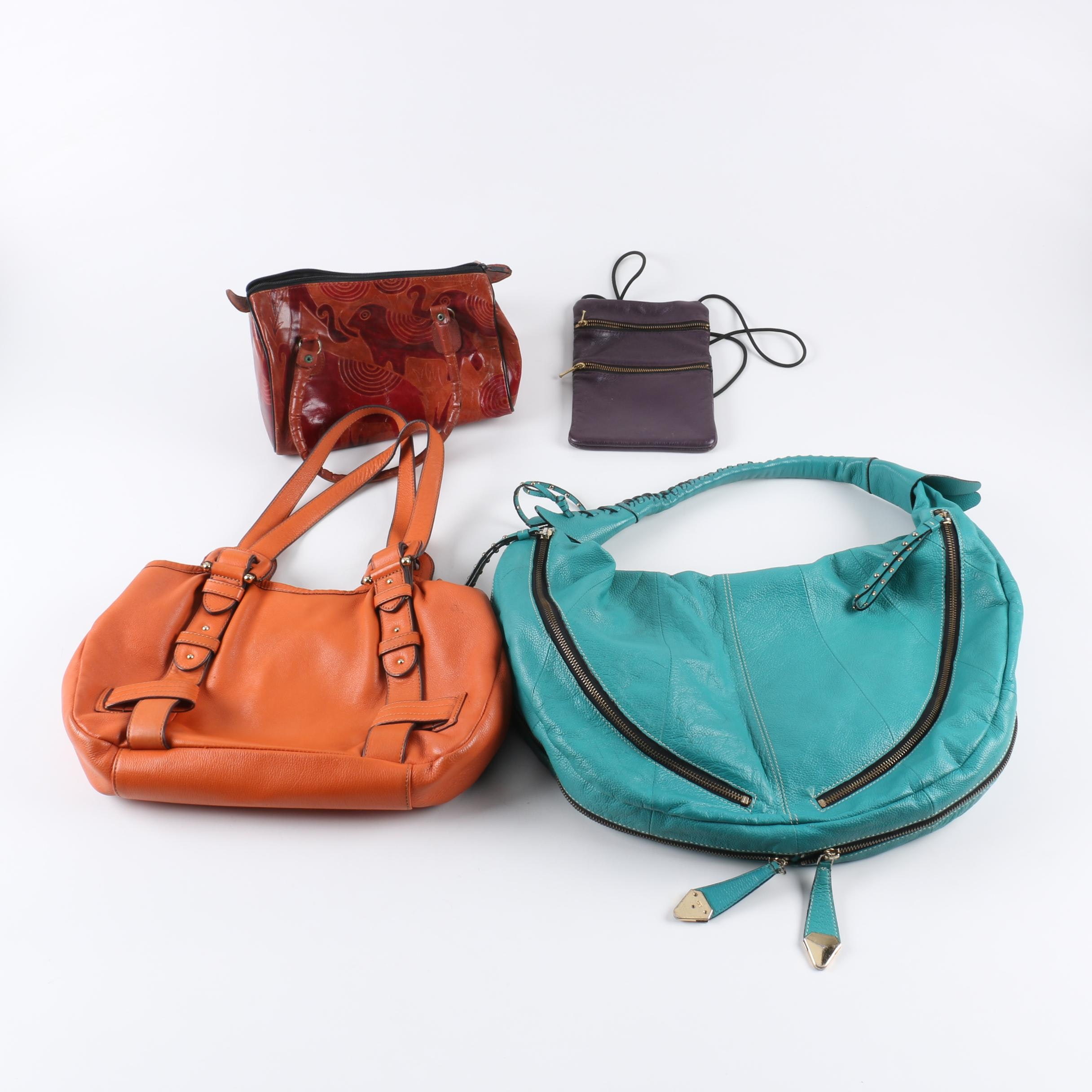 Leather Handbags Including Etienne Aigner