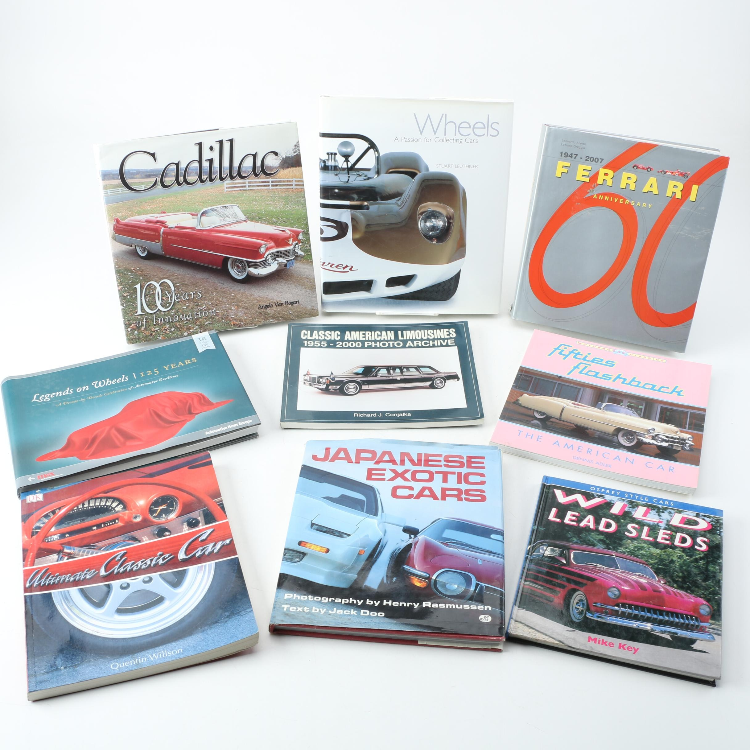 """""""Ferrari 1947-2007"""", """"Cadillac 100 Years"""", and Other Automotive Books"""