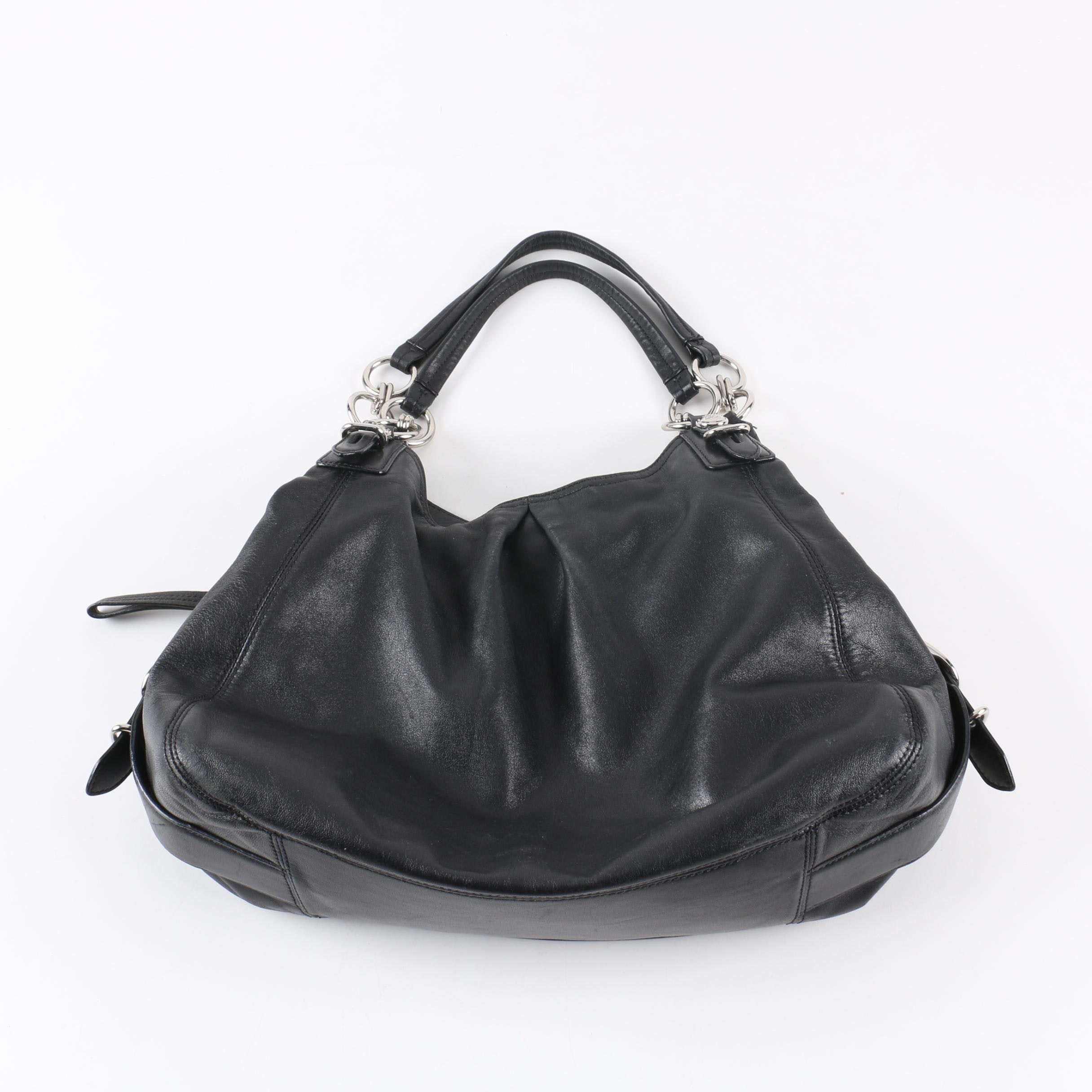 Coach Maggie Madison Mia Black Leather Handbag