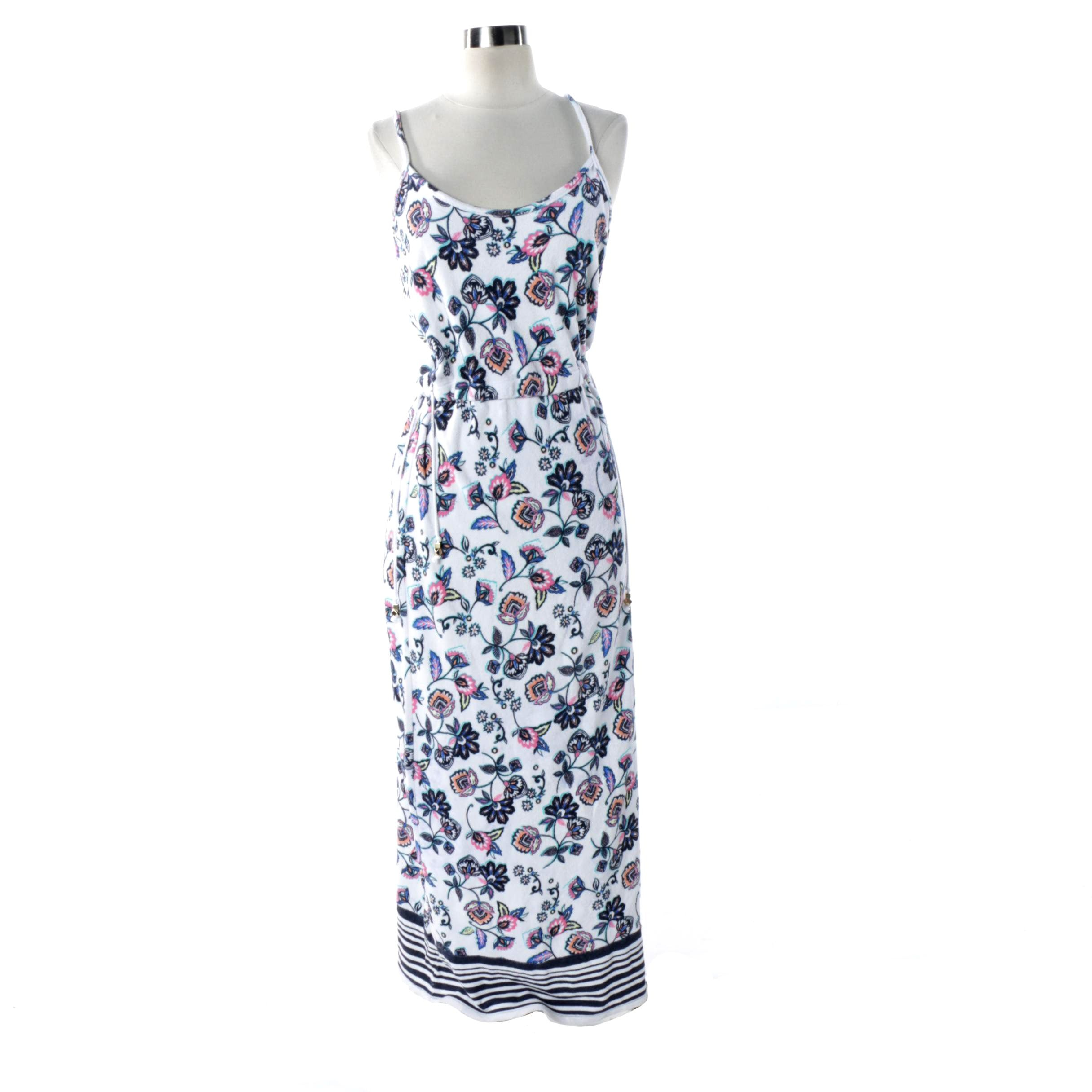 Juicy Couture Terry Cloth Floral Print Maxi Dress
