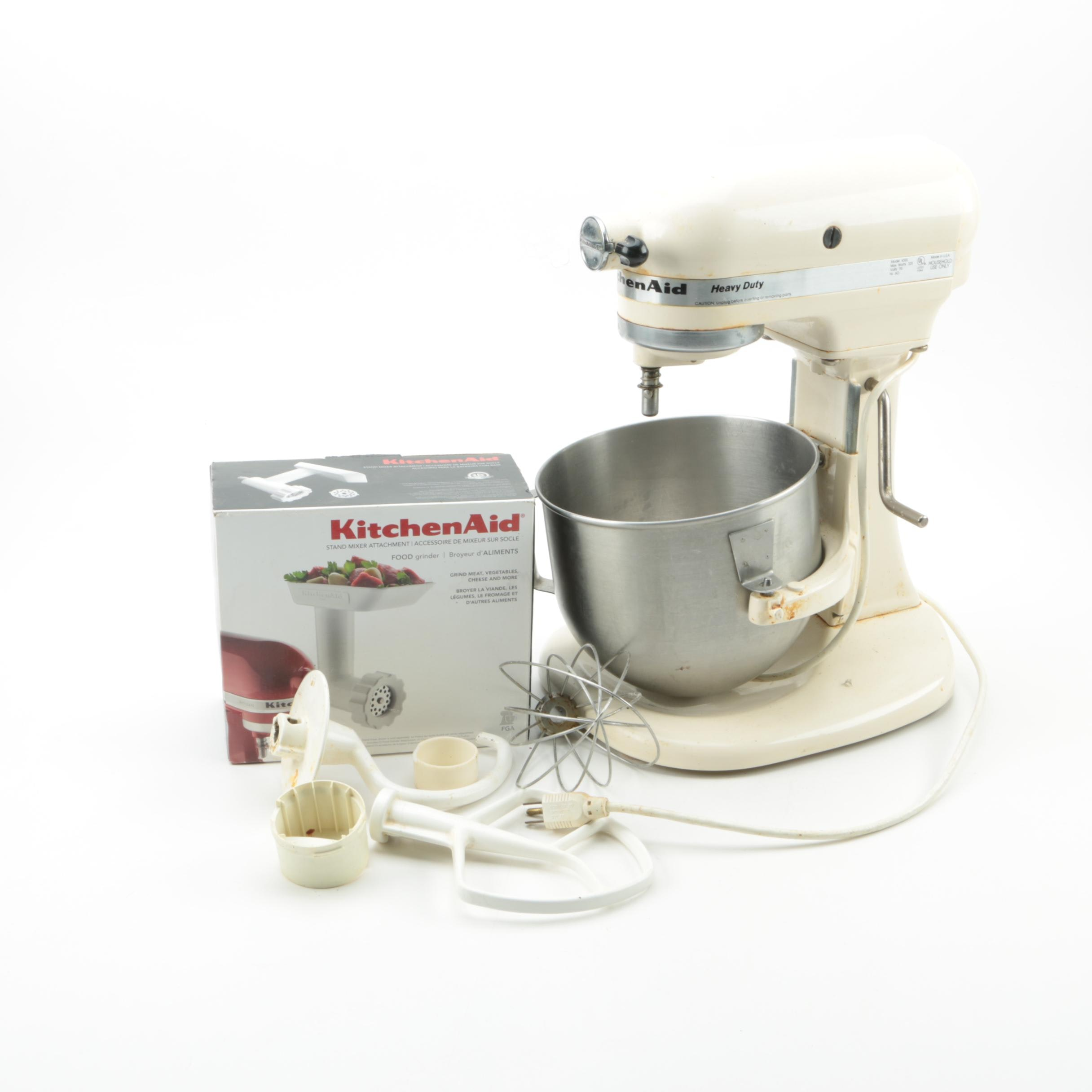 KitchenAid Heavy Duty Stand Mixer with Attachments