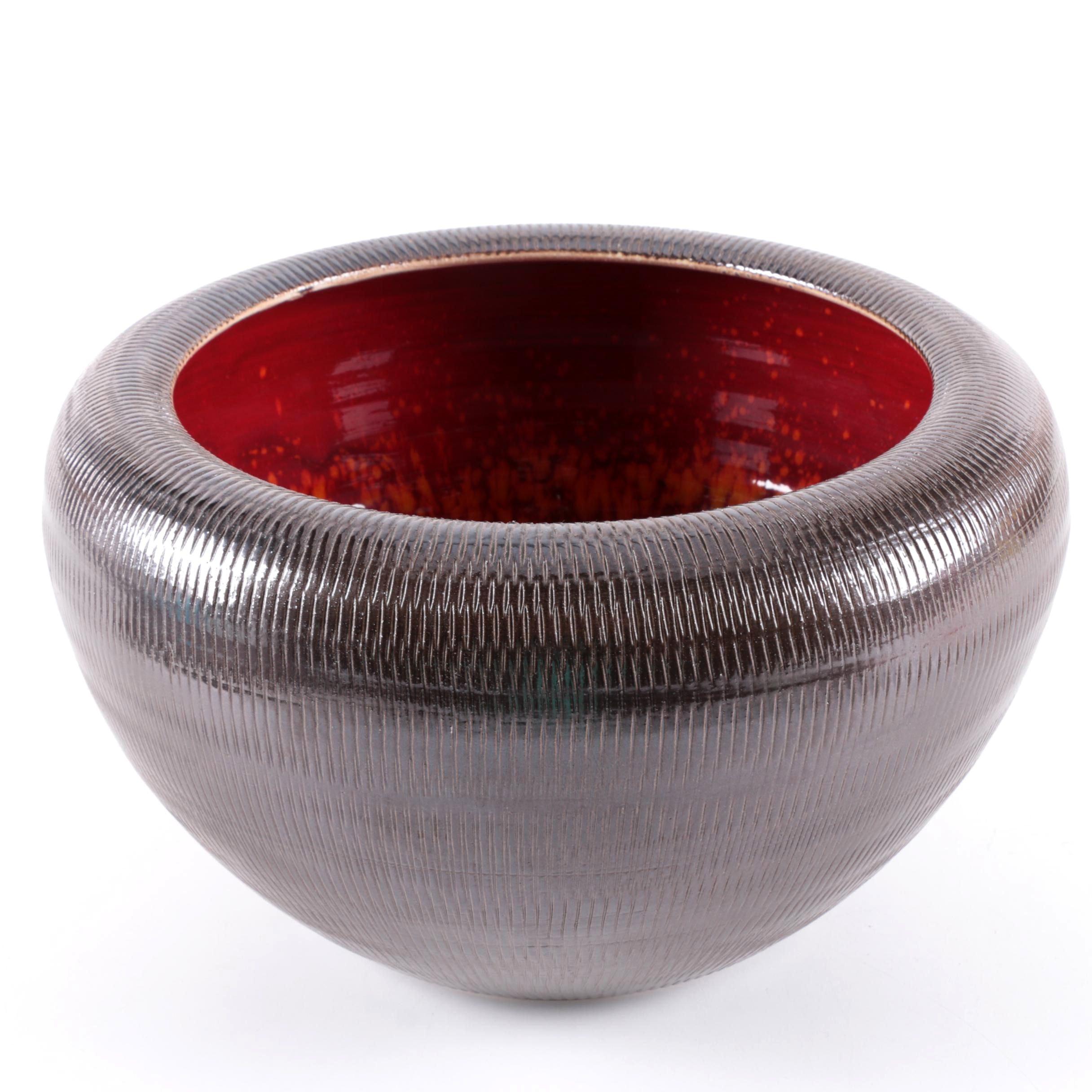Poole Studio Ceramic Bowl Vase