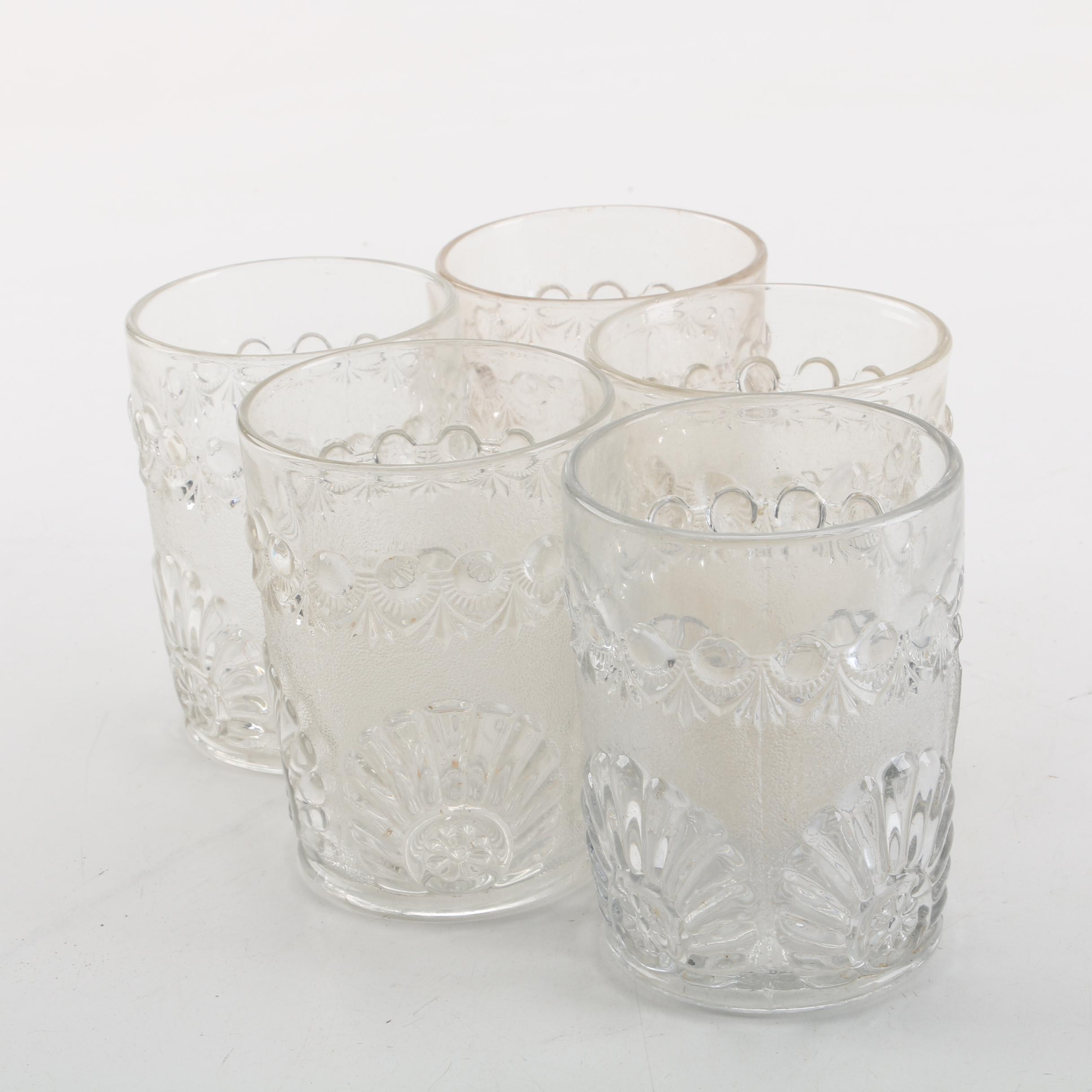 "EAPG Westmoreland ""Shell and Jewel"" Tumblers, Circa 1893"