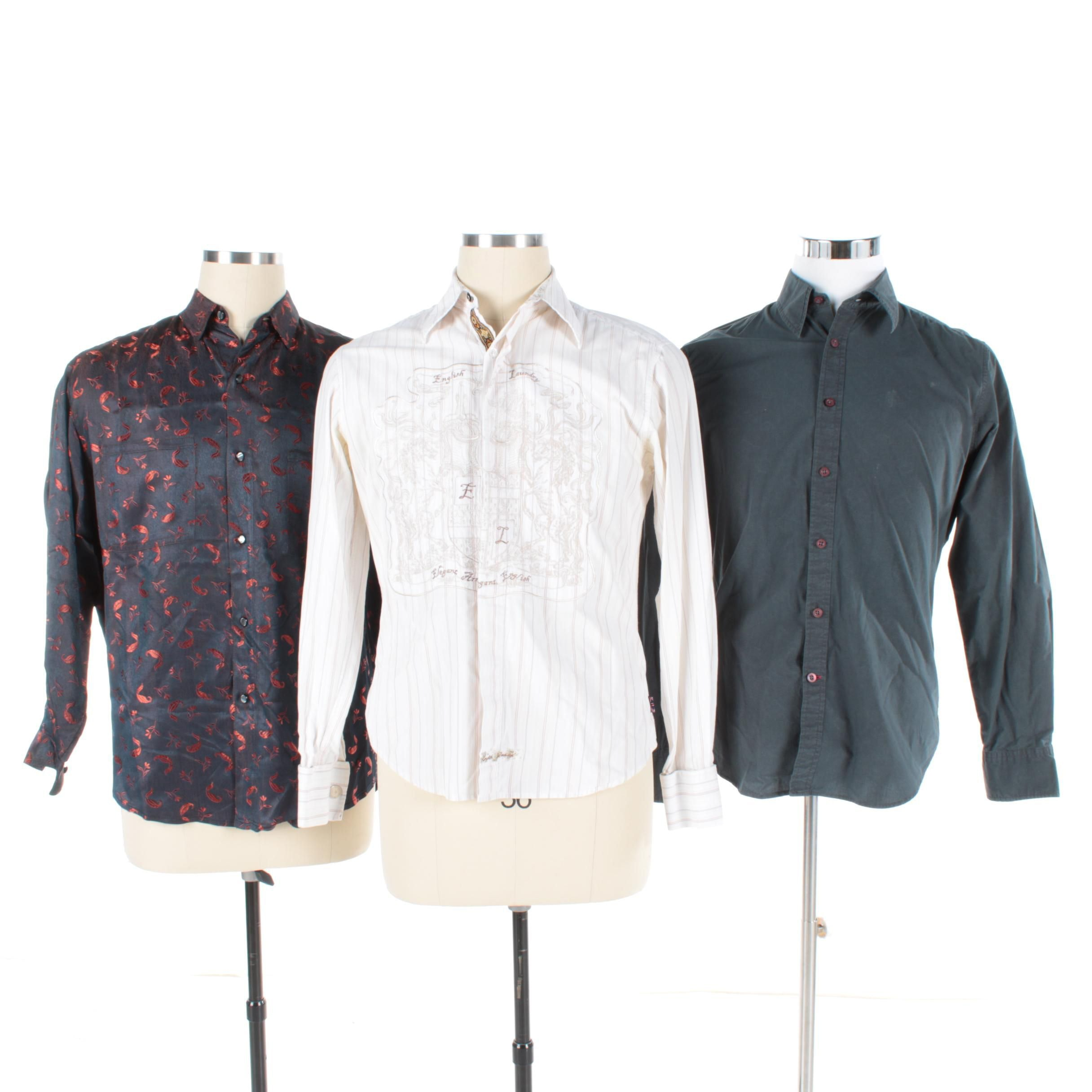 Men's Button-Front Shirts Including Guess by Marciano and English Laundry