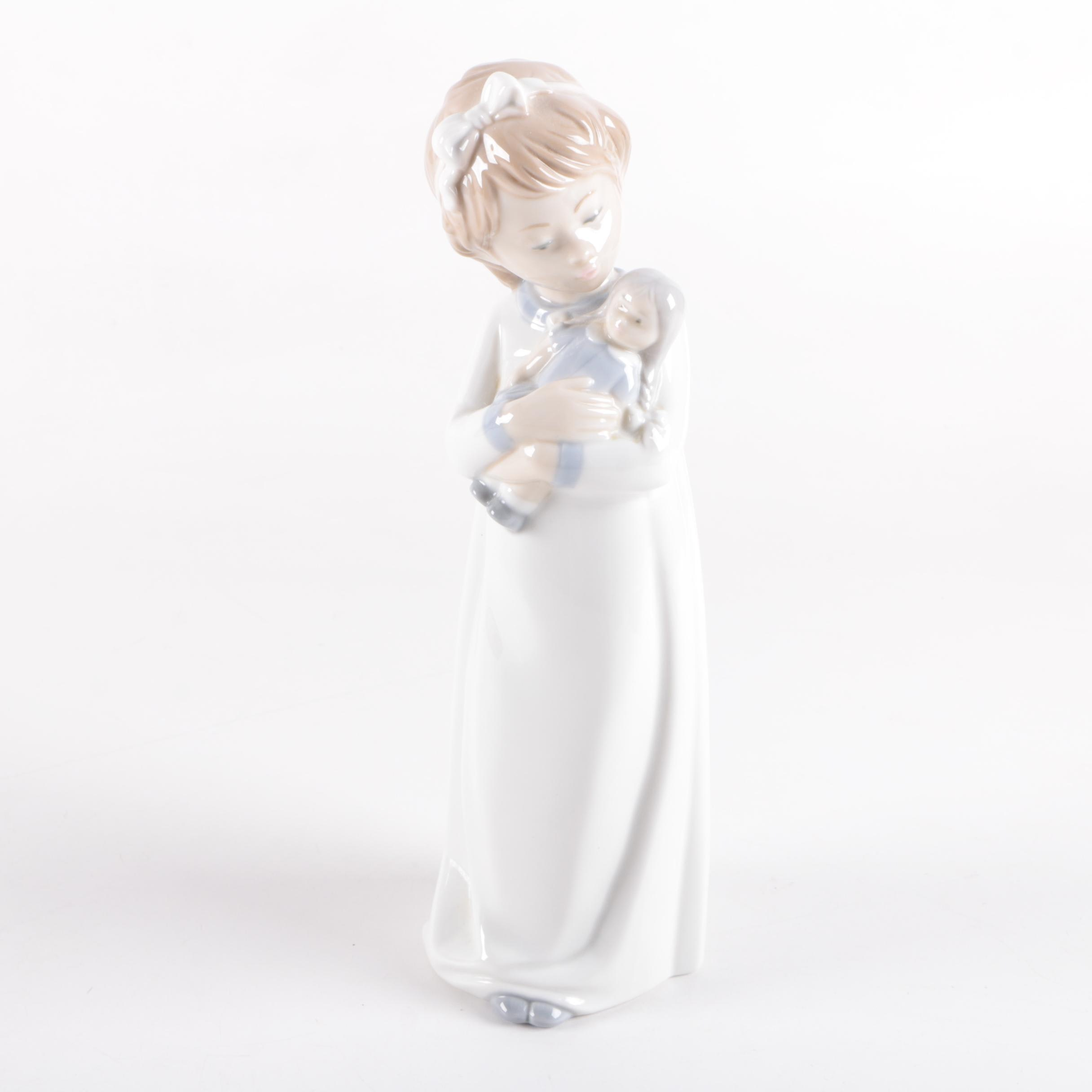"""NAO by Lladró """"Girl with Doll"""" Figurine"""