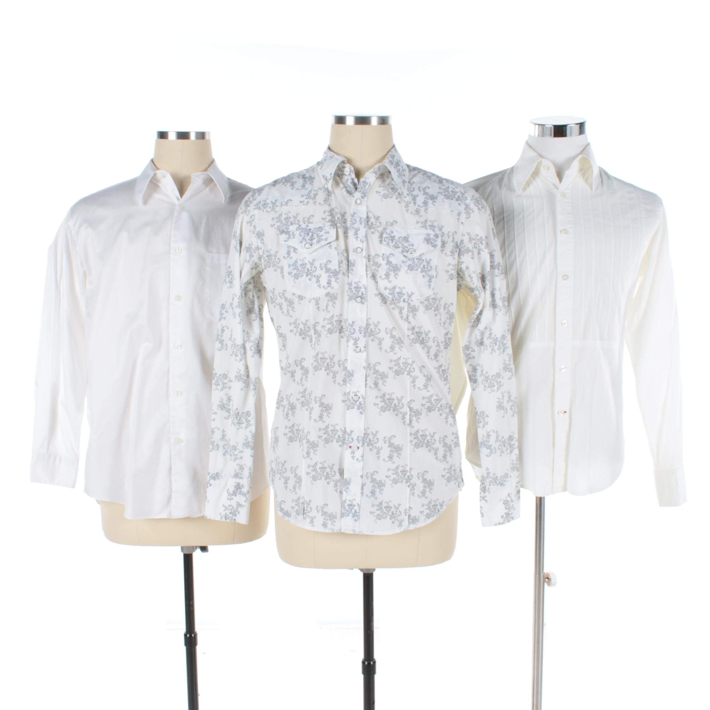 Men's Button-Front Shirts Including Guess by Marciano and Perry Ellis Portfolio