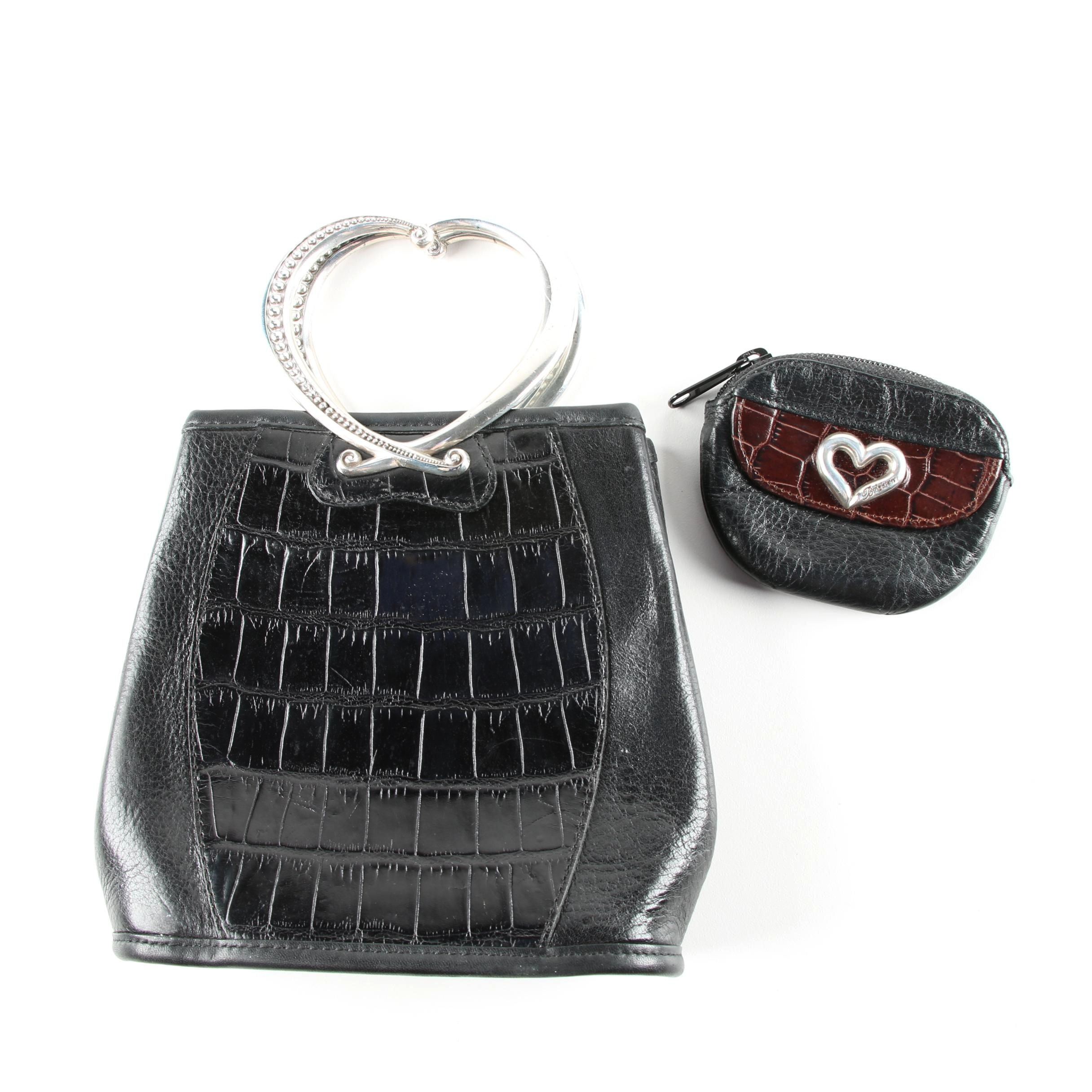 Brighton Heart Handled Leather Bag with Coin Purse