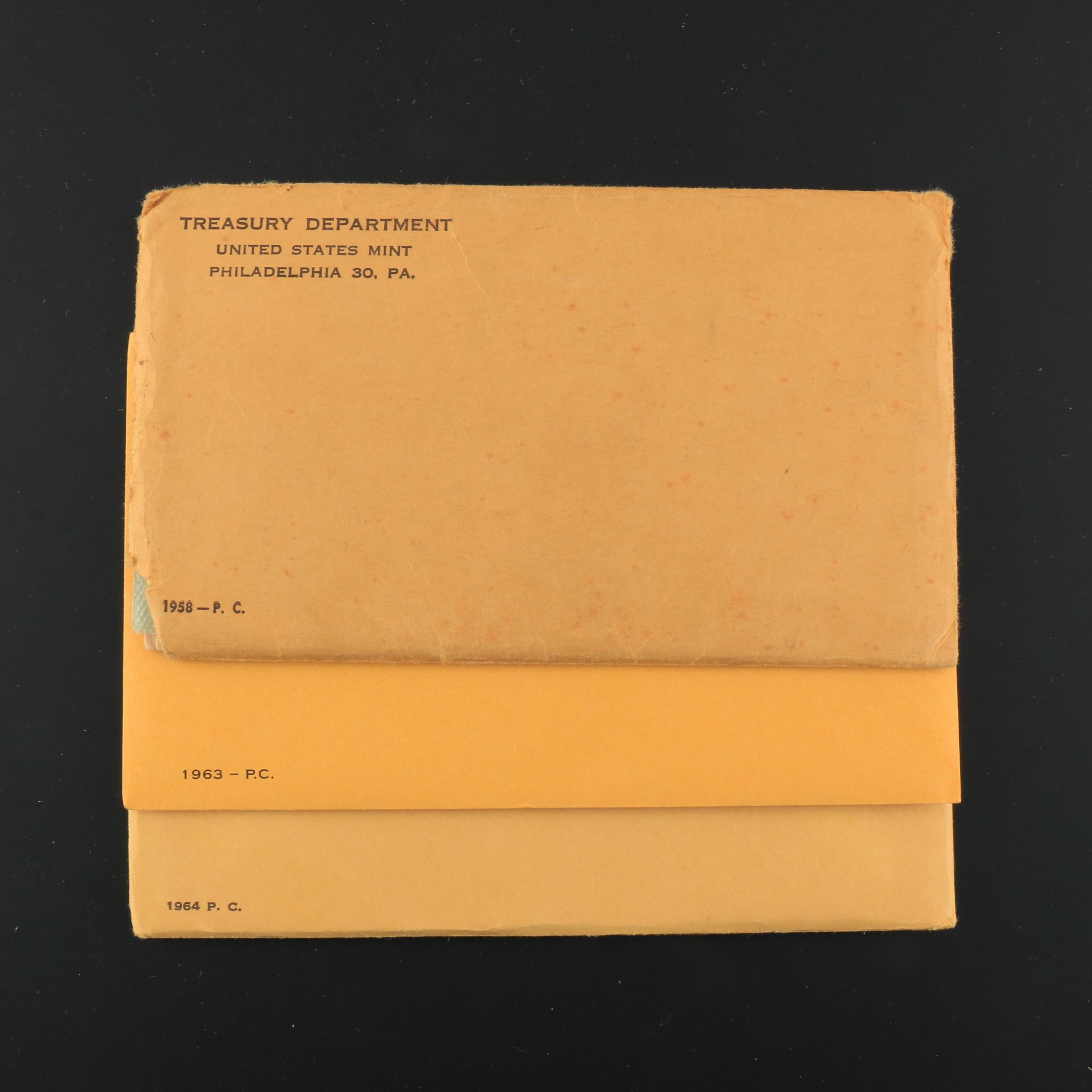 Three Vintage Pre-1965 U.S. Mint Proof Sets