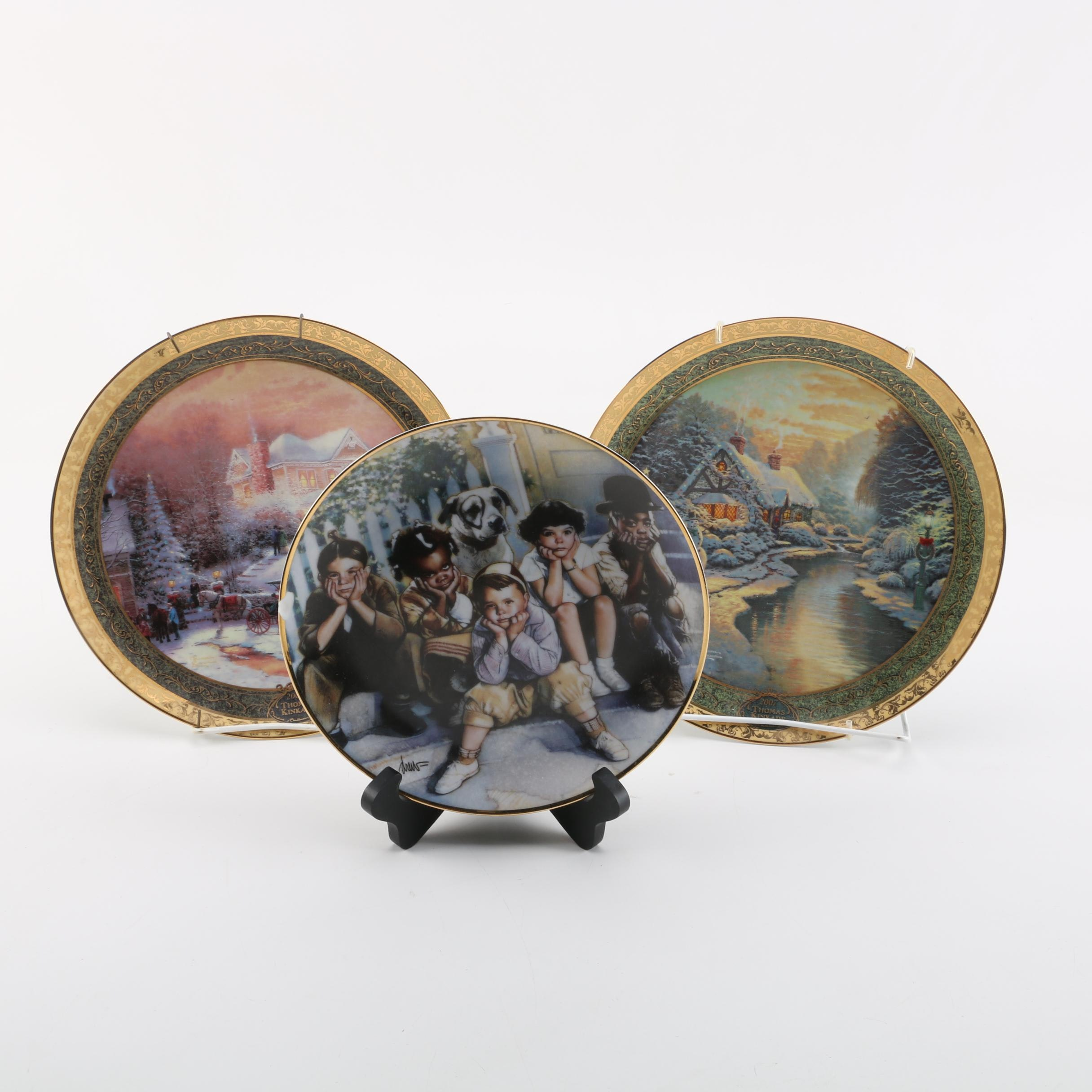 Porcelain Plates Including Thomas Kinkade