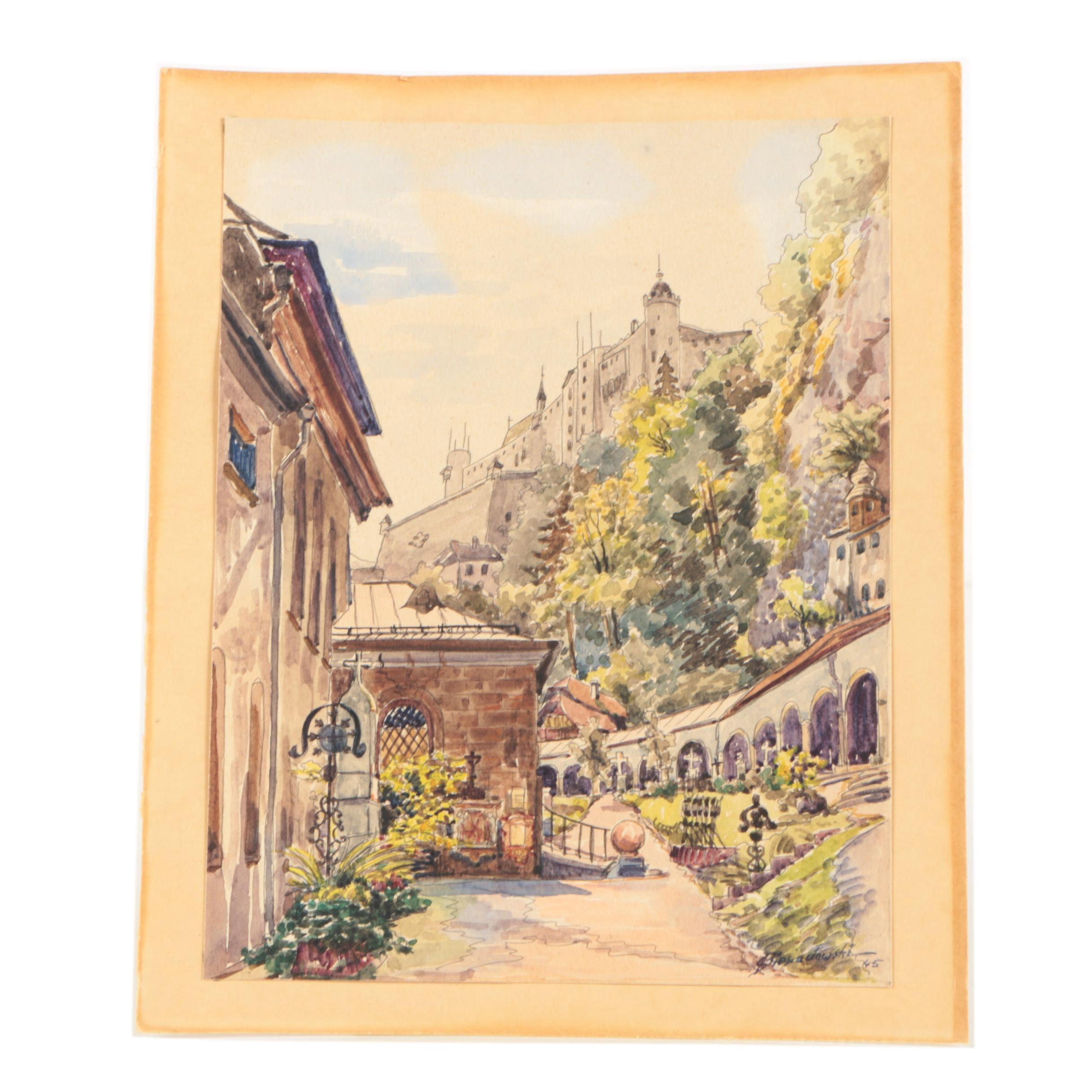 Biesiadowski Watercolor and Gouache Painting