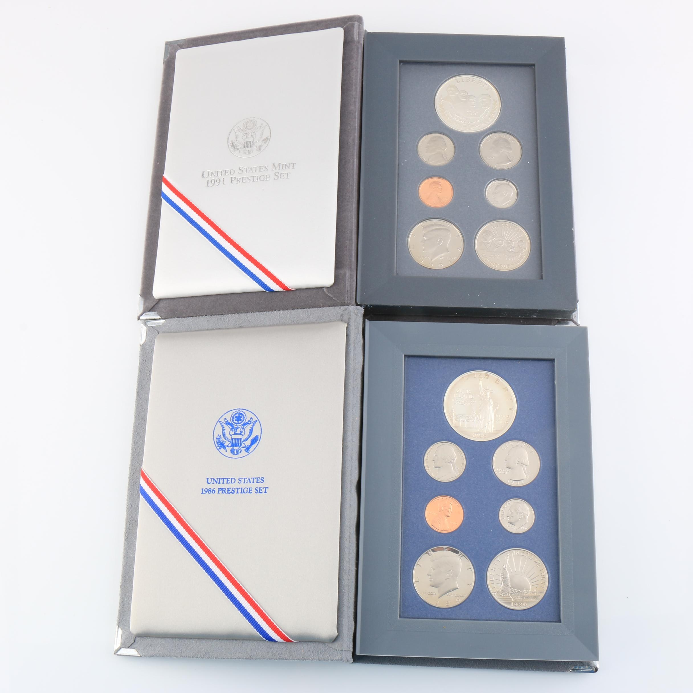 Two U.S. Mint Prestige Sets