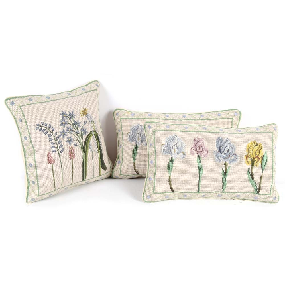 Wool Needlepoint Accent Pillows