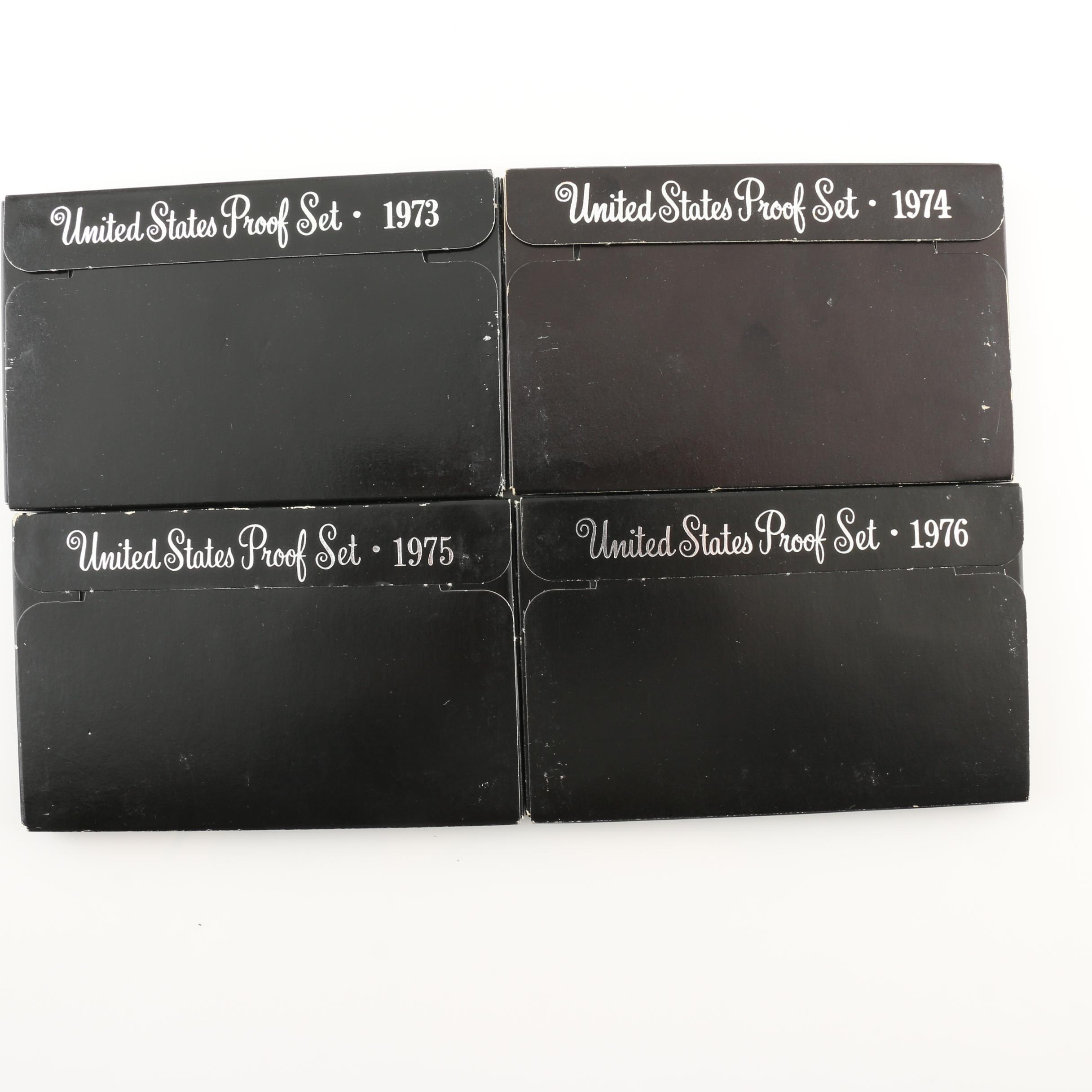 Group of Four U.S. Mint Proof Sets Including 1973, 1974, 1975, 1976