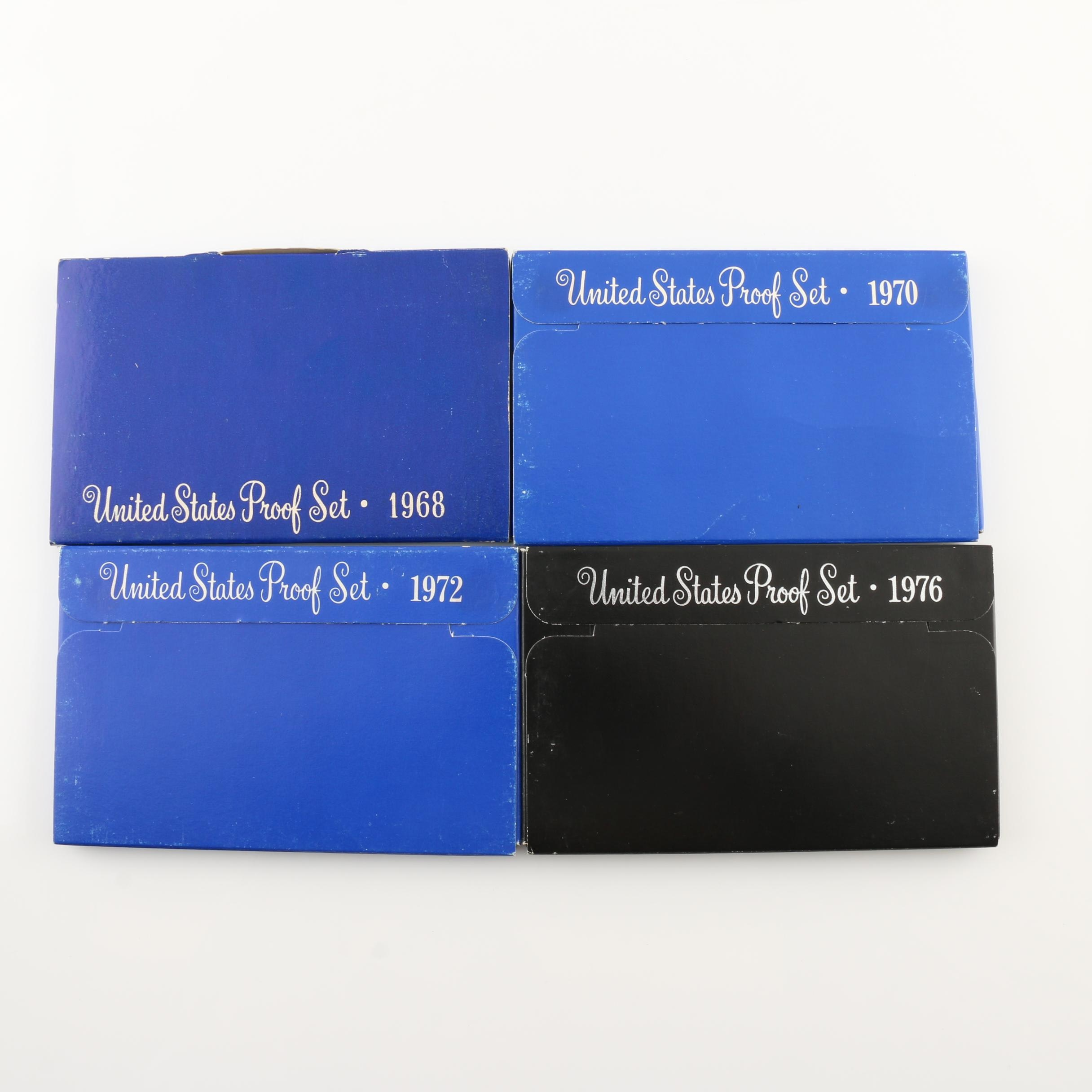 Group of Four U.S. Mint Proof Sets Including 1968, 1970, 1972, and 1976