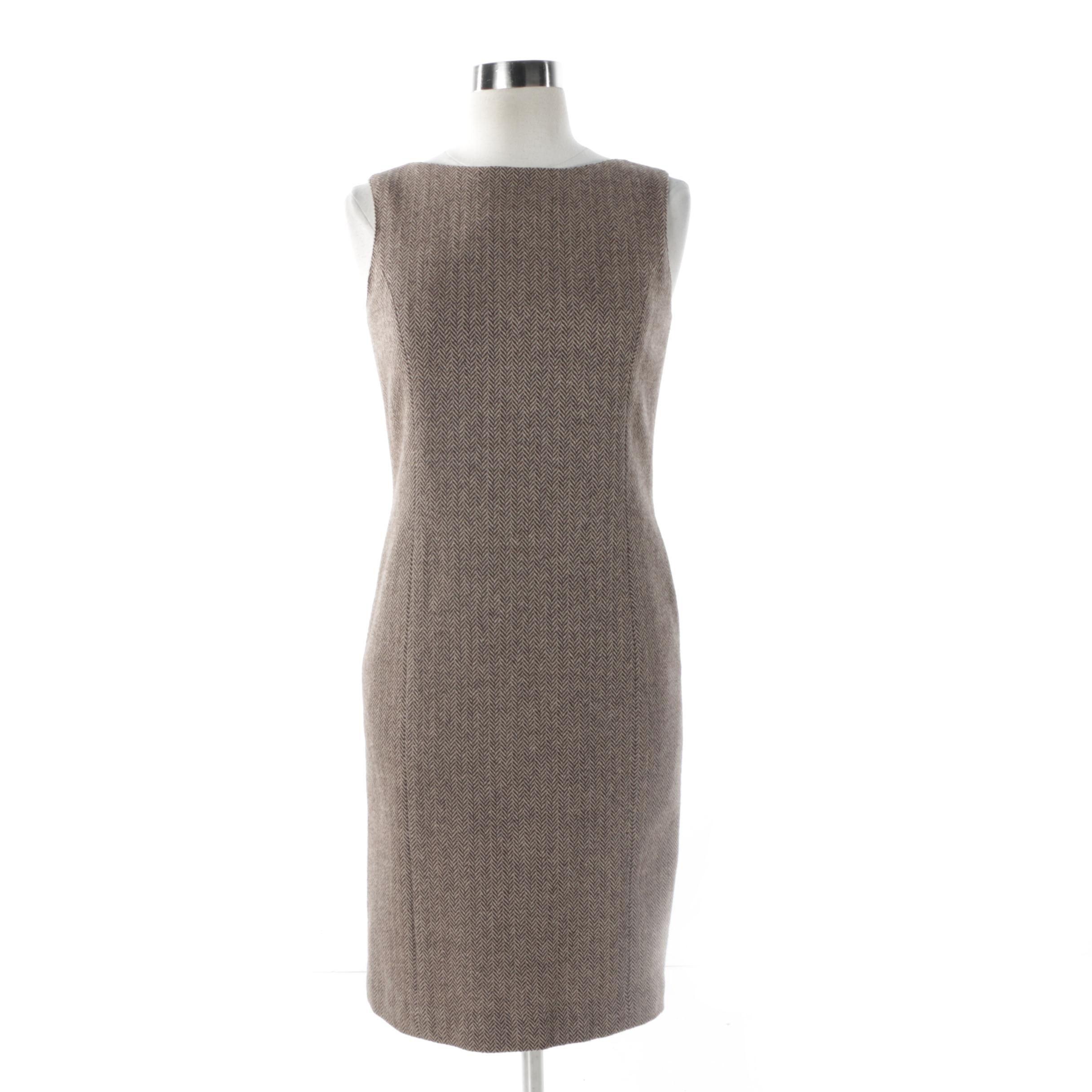 Kate Spade Herringbone Wool Blend Dress