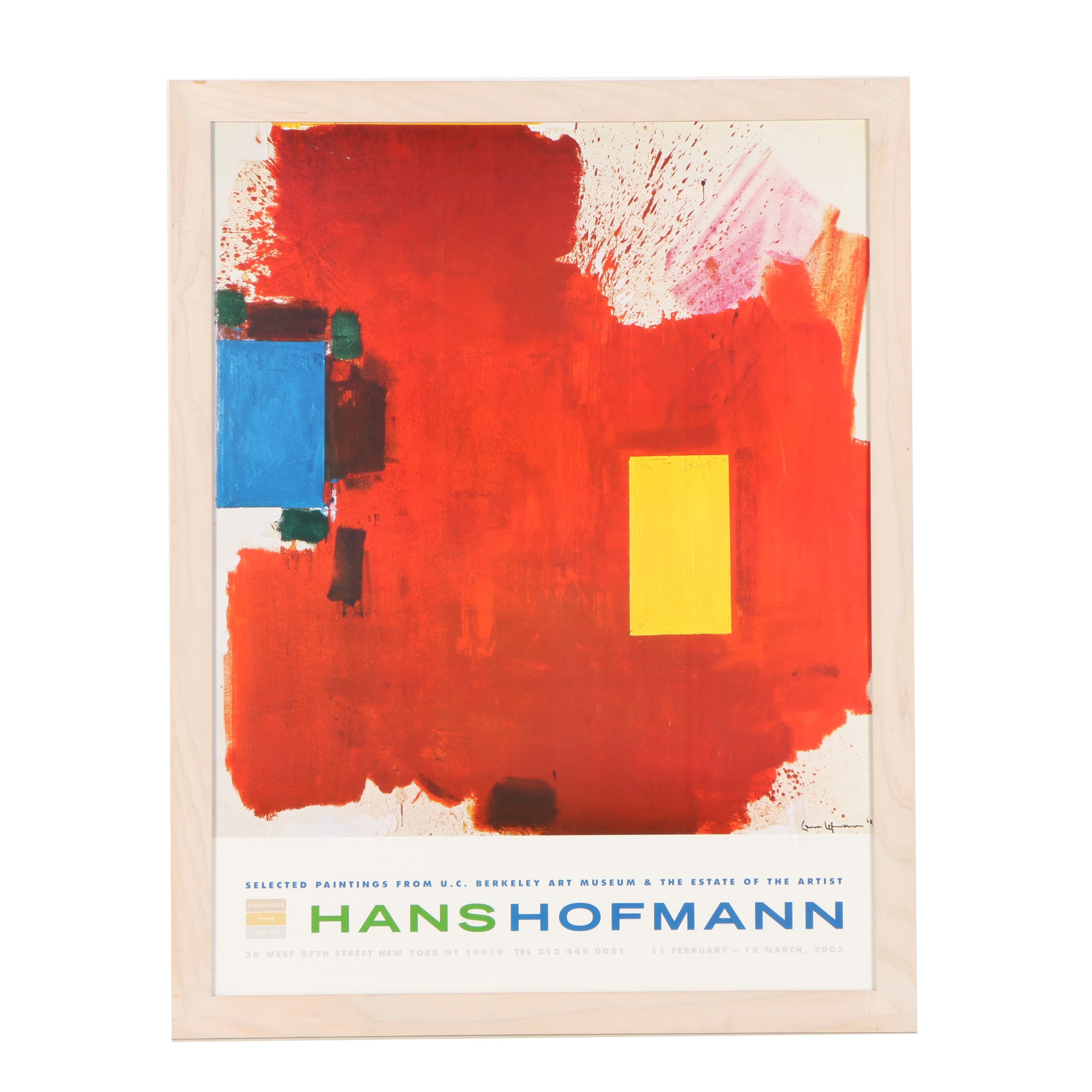 "Offset Lithograph Exhibition Poster After Hans Hoffman ""Magnum Opus"""