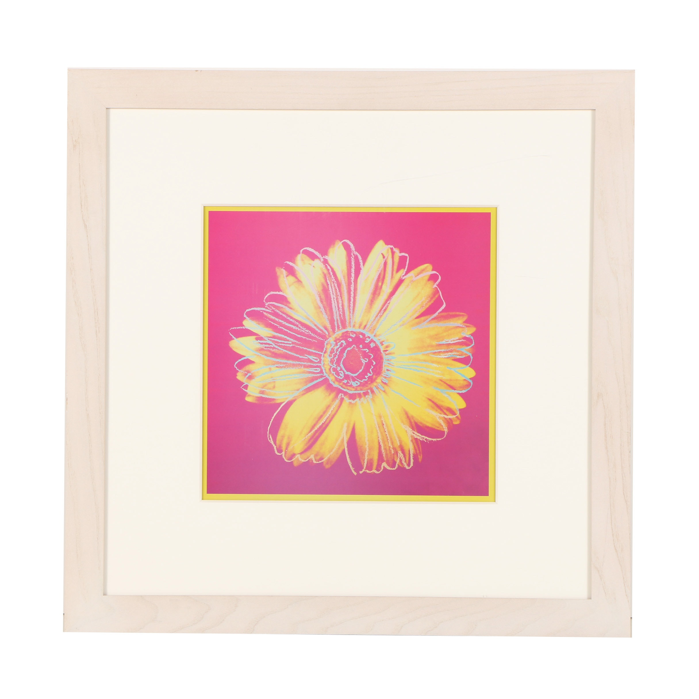 "After Andy Warhol Offset Lithograph ""Daisy (Fuchsia and Yellow)"""