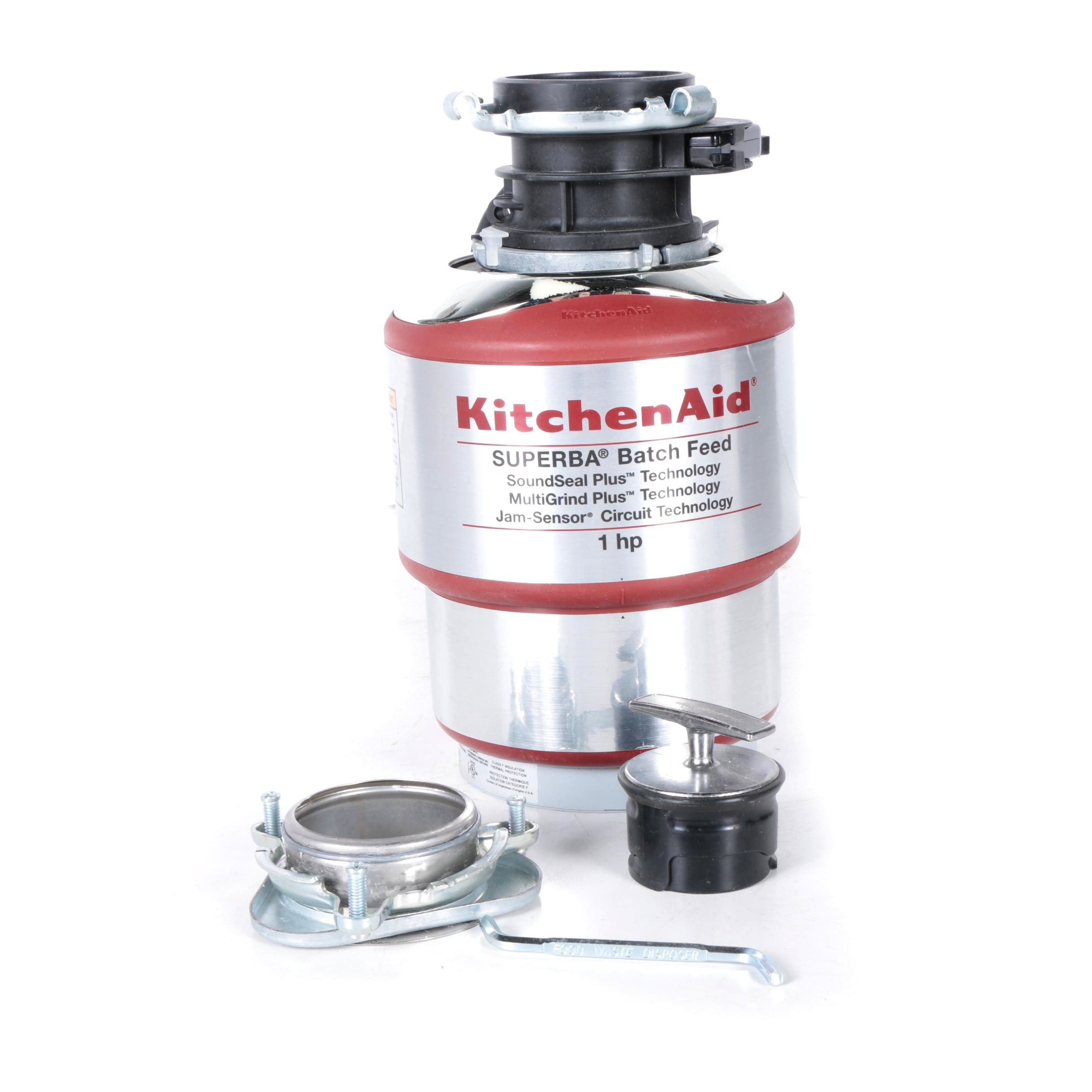 KitchenAid 1HP Batch Feed Waste Disposer
