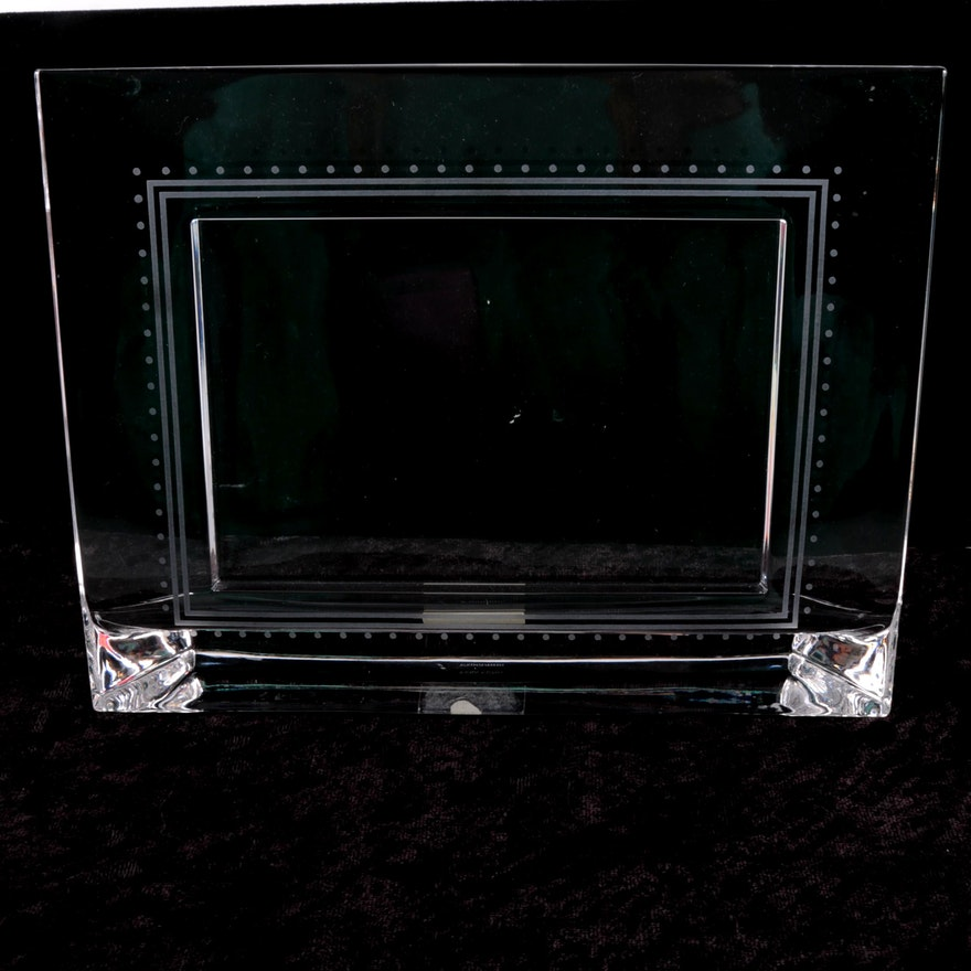 Vera Wang Wedgwood Crystal Picture Frame Ebth