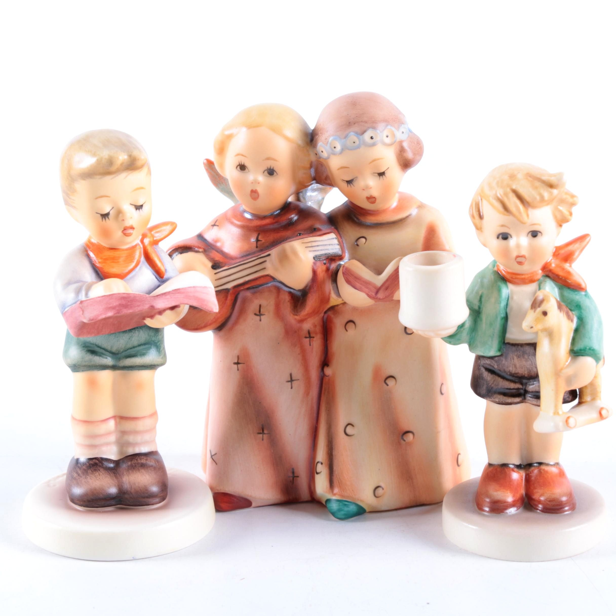 "Vintage Hummel Porcelain Figurines Featuring ""Angelic Song"""